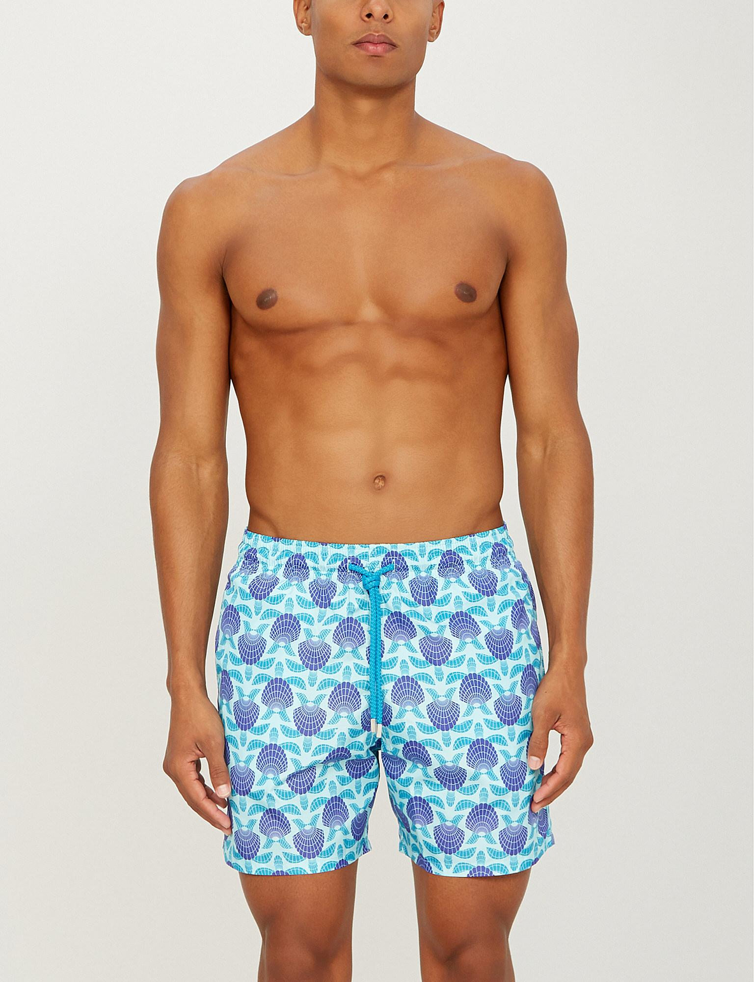 e60c74a304 Vilebrequin Mahina Turtle Shell-print Swim Shorts in Blue for Men - Lyst
