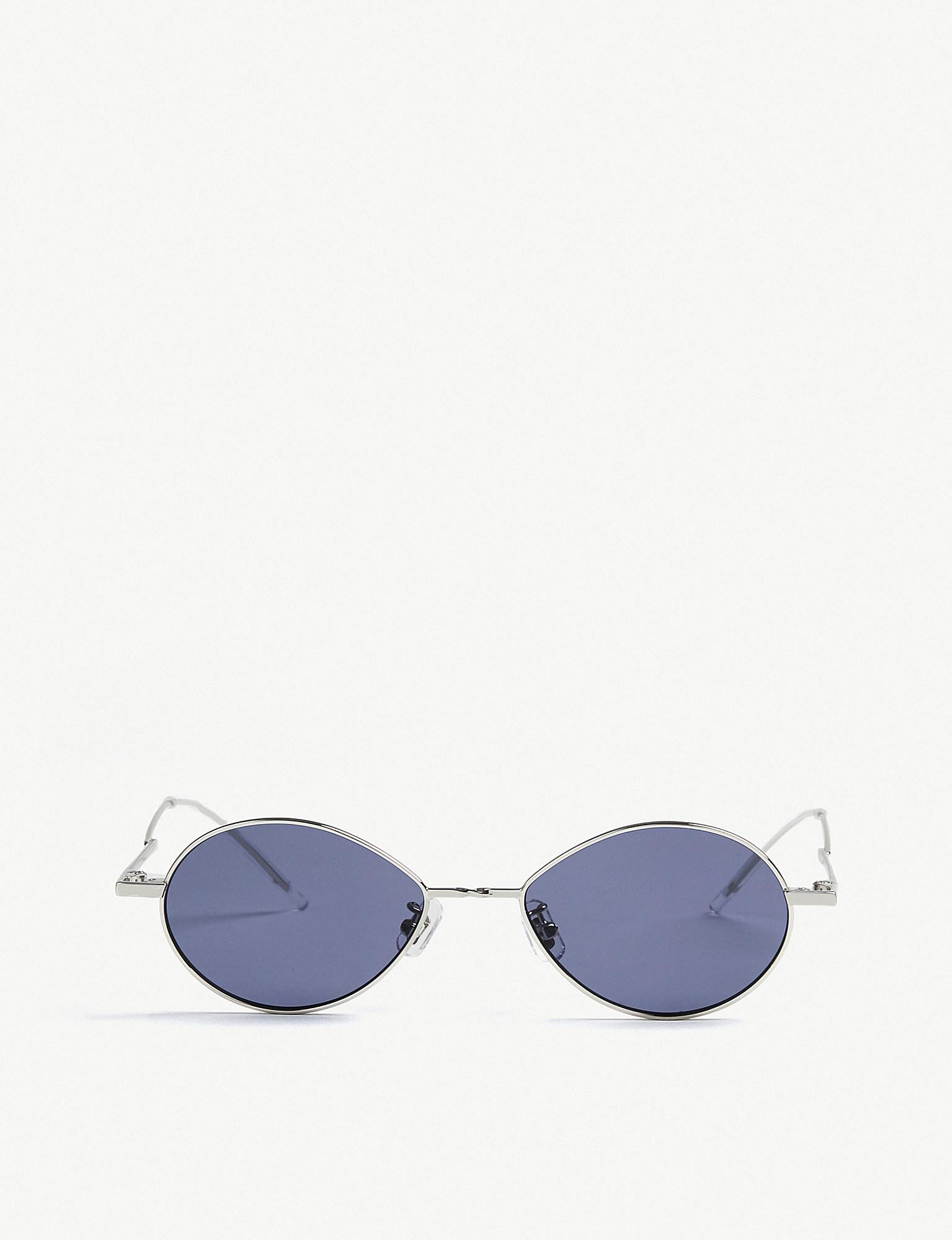 9017caf7bb2f6 Lyst - Gentle Monster Cobalt Tinted Stainless Steel Sunglasses in Blue