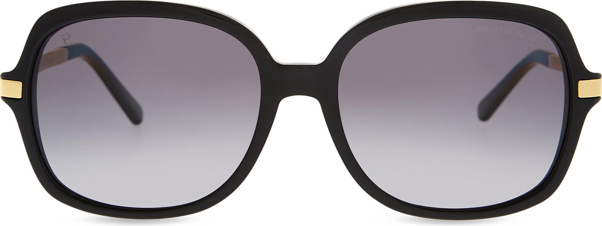 412428761a Lyst - Michael Kors Mk2024 Adrianna Ii Square-frame Sunglasses in Black