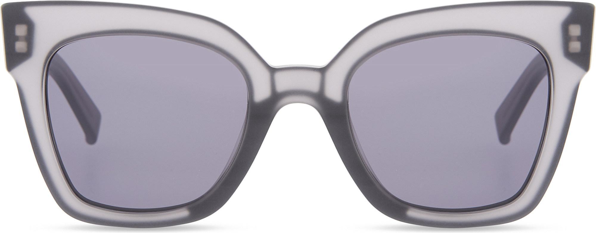 021872ba4b Lyst - Max Mara Prism Iv Square-frame Sunglasses in Gray