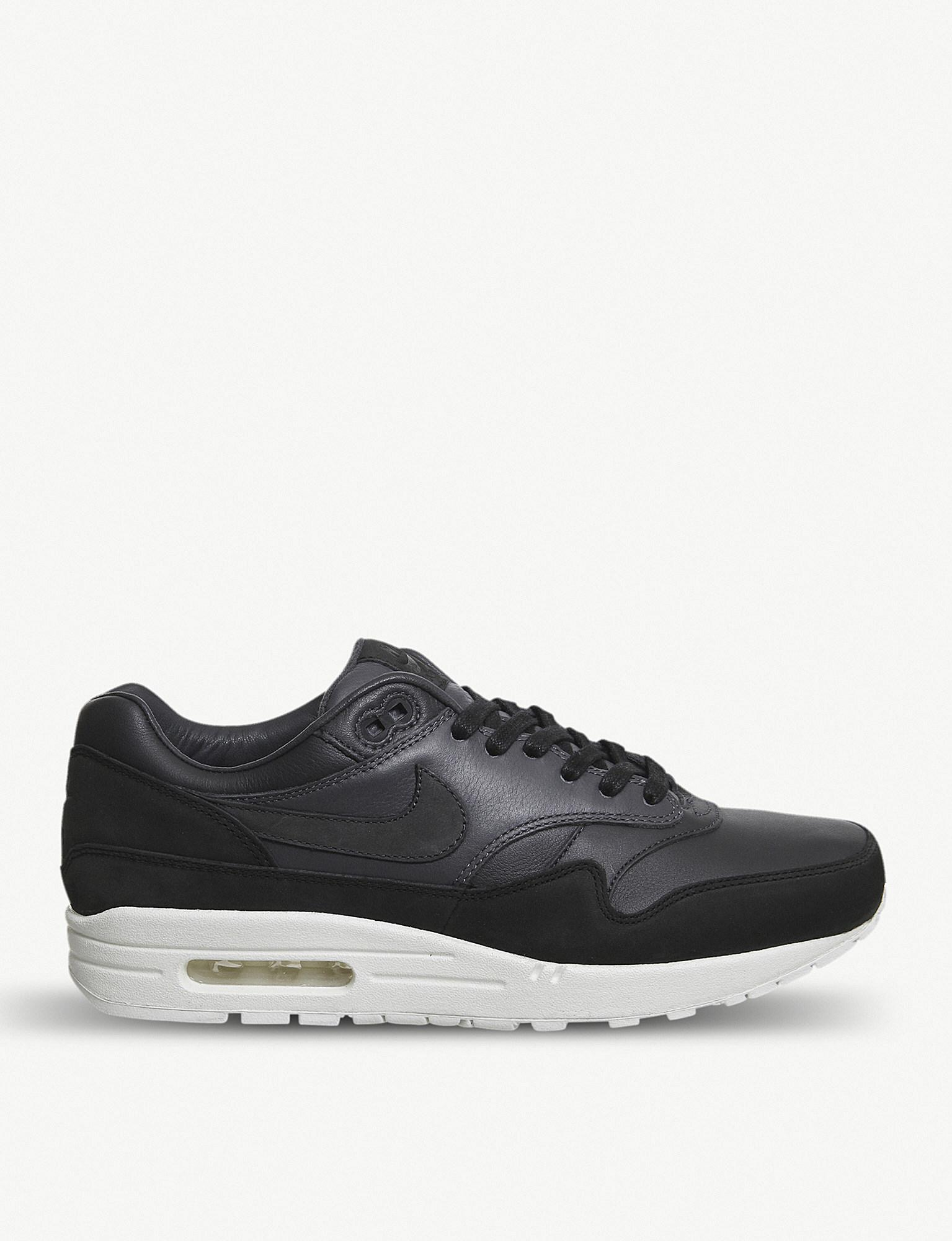 best service 04a26 03b86 ... czech nike. mens black lab air max 1 pinnacle leather trainers 7d5eb  45bb1
