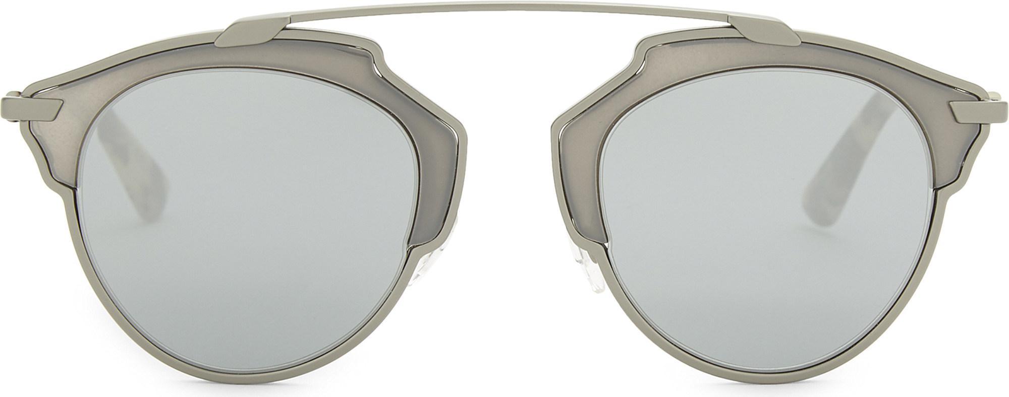 03f97bd2b3e9 Dior So Real Round Sunglasses in Metallic - Lyst