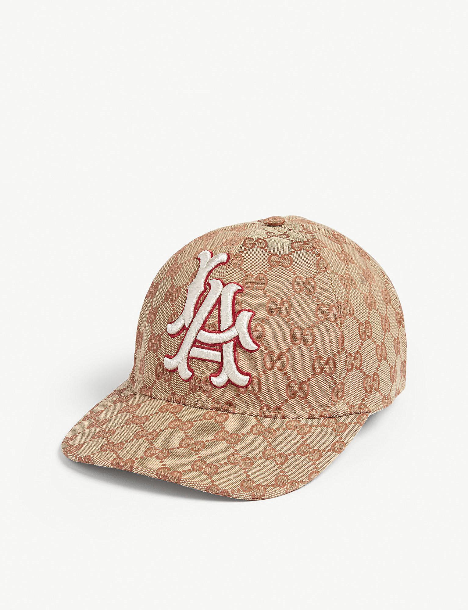 d1c6b4f1c3d Lyst - Gucci La Dodgers Baseball Cap in Natural for Men