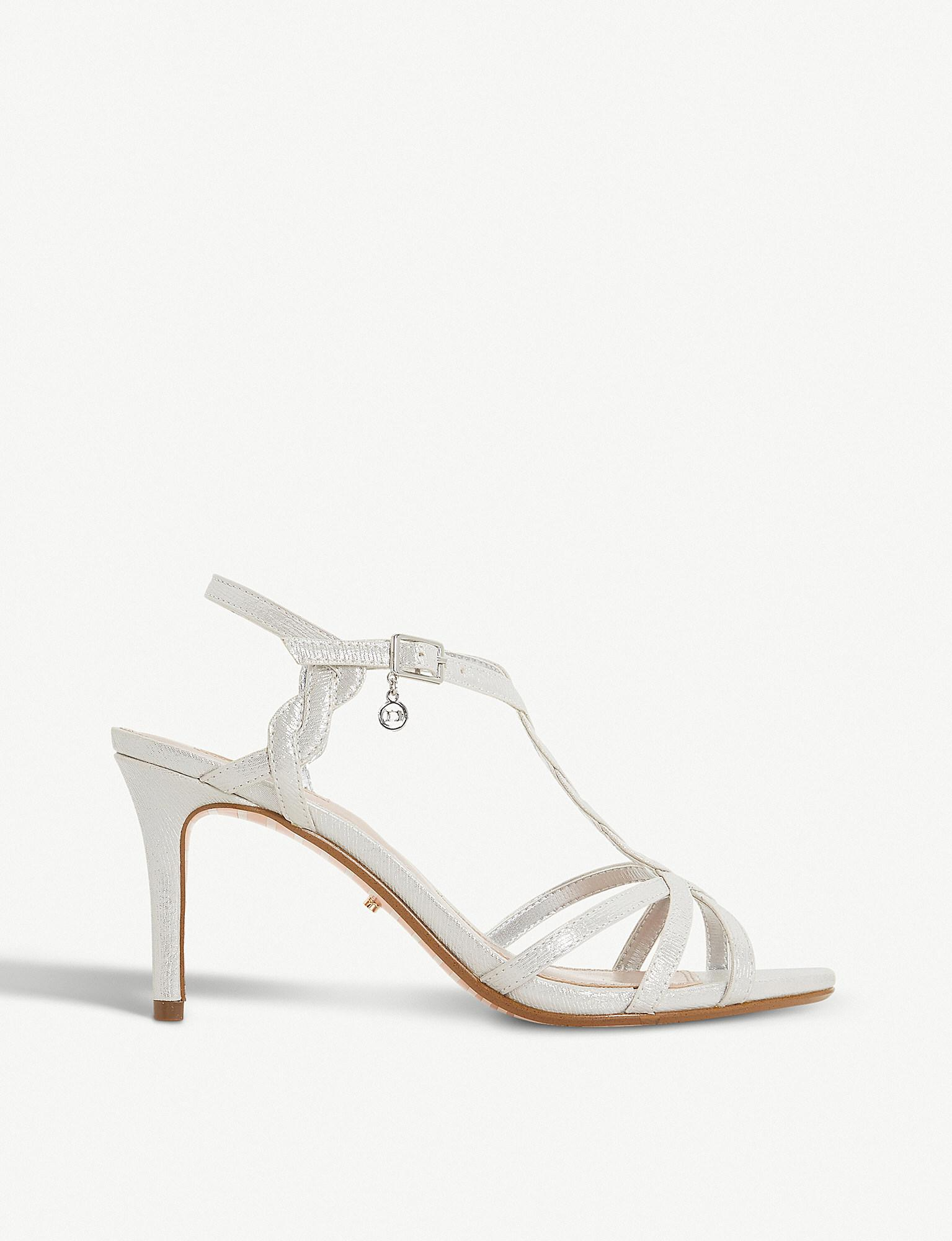 4b0b03a5607 Dune Mystick Patent Mid-heel Sandals in Metallic - Lyst