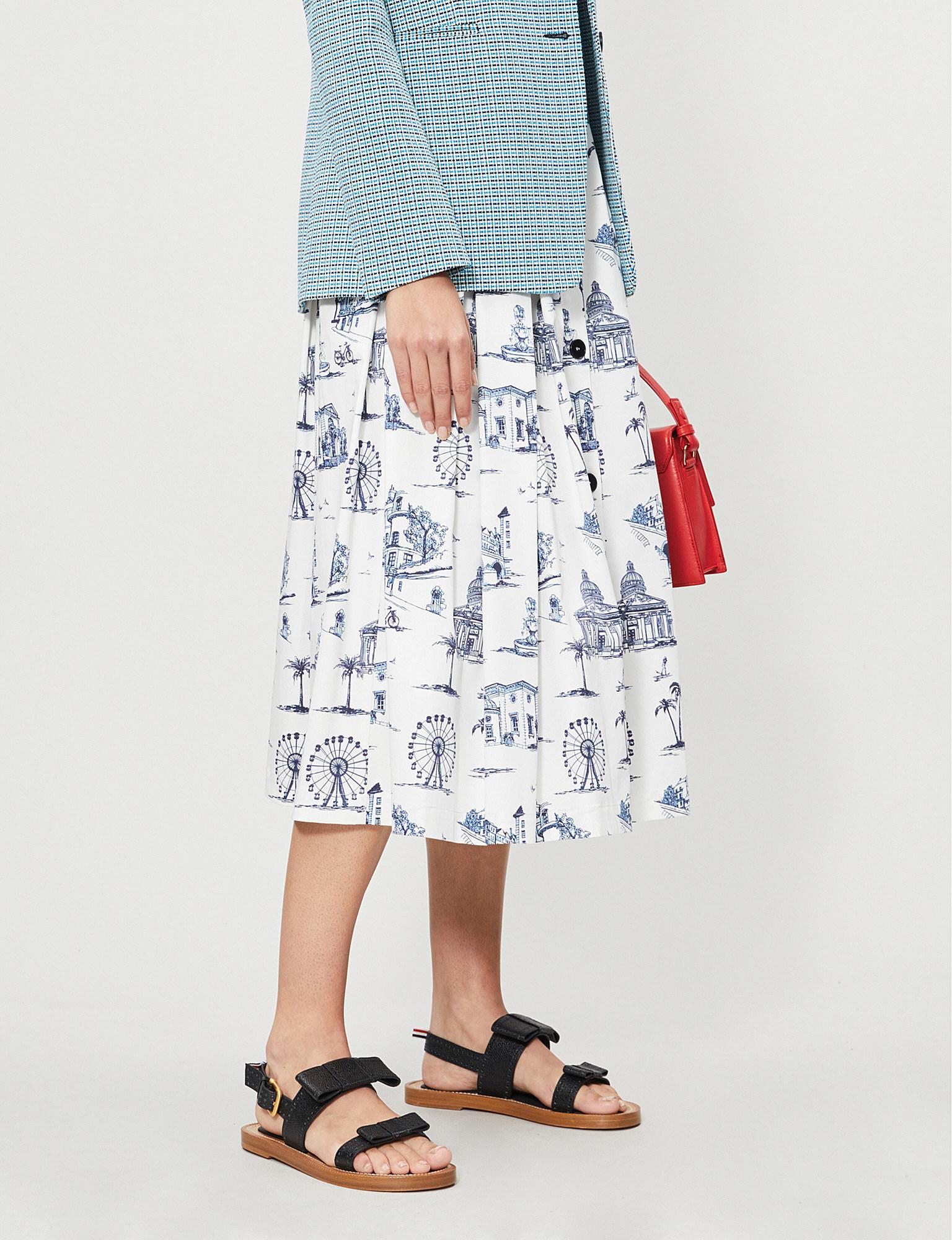 fa736fac4 Maje. Women's Jopomy Graphic-print Cotton Midi Skirt