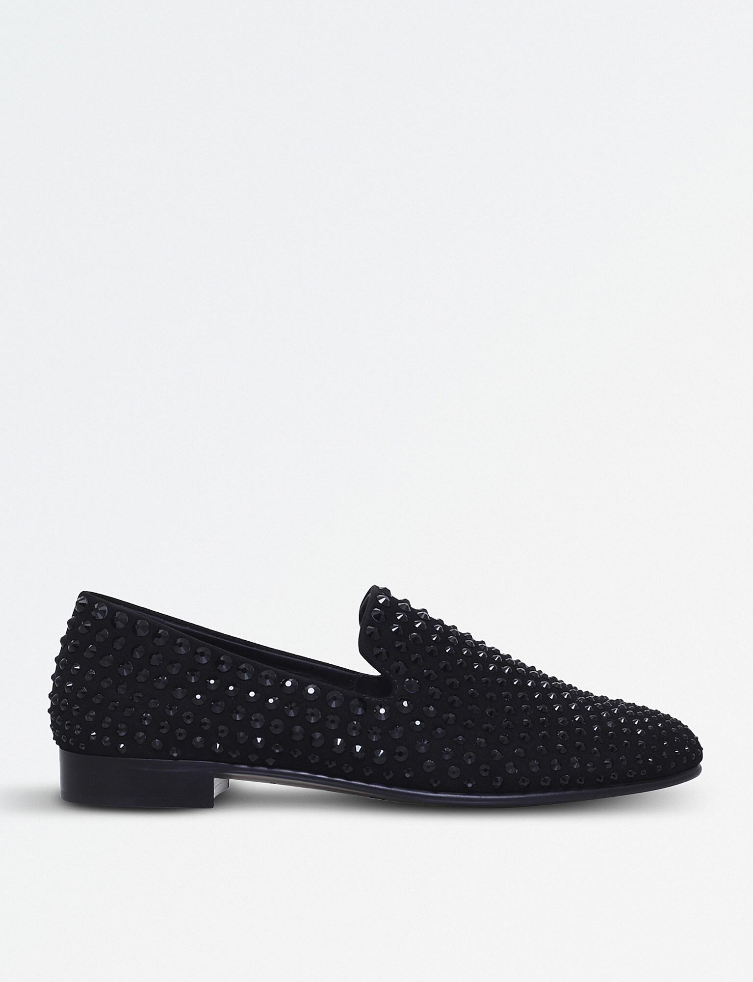 Giuseppe Zanotti Embellished Suede Loafers lowest price cheap online f5iaLTbM