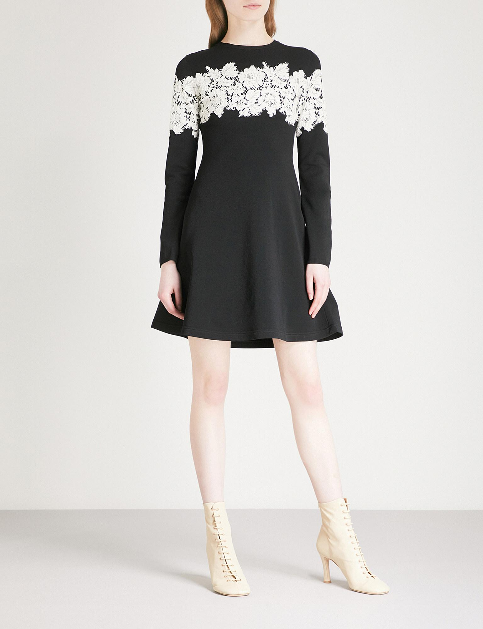 Discount Supply Valentino Lace-Embroidered Stretch Mini Dress Marketable Cheap Price JV140