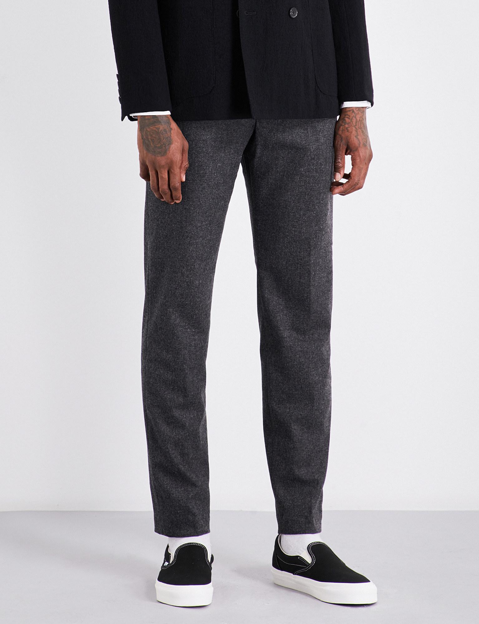 Slim-fit Pleated Mélange Wool-blend Trousers Camoshita zUacRrBr