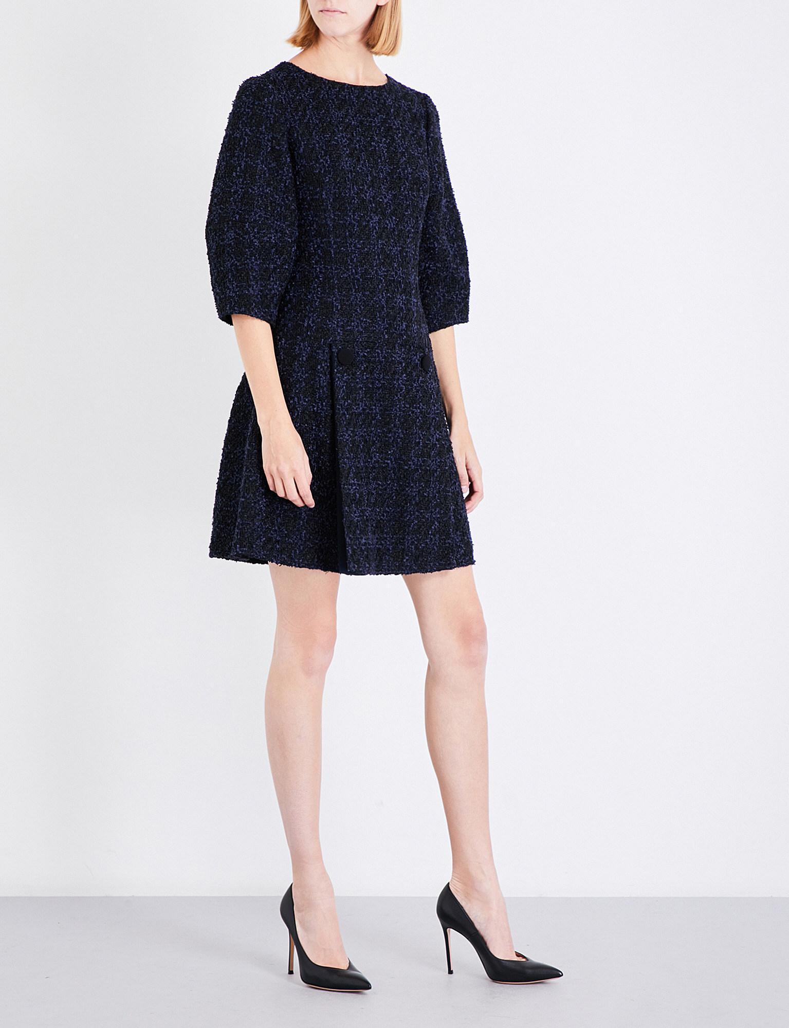balloon-sleeve mini dresss - Black Oscar De La Renta e3R3qyi
