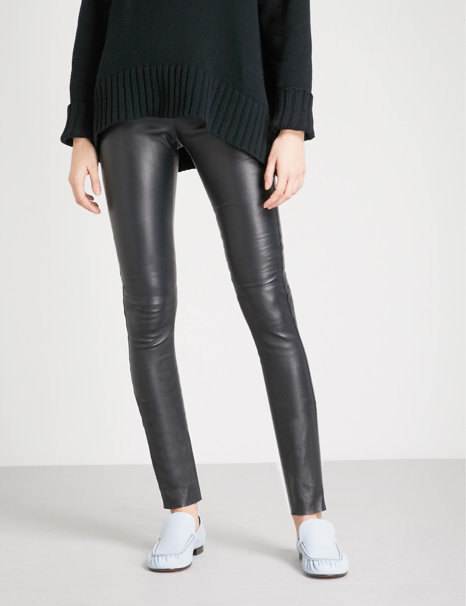 52b903a1c27088 Gallery. Previously sold at: Selfridges · Women's Leather Leggings