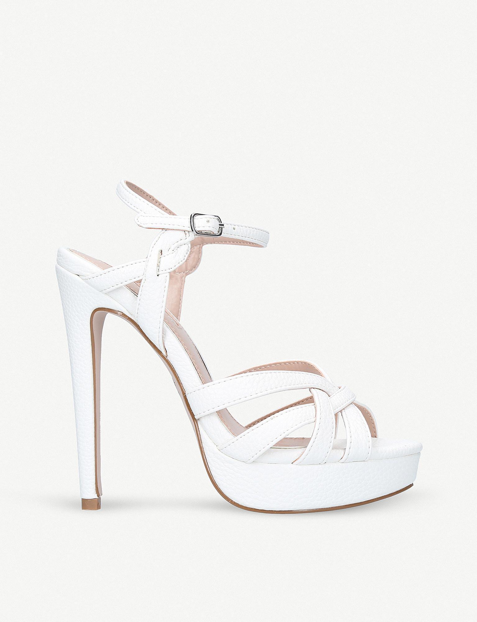 fdb11c5bb9ad Lyst - Miss Kg Samia Platform Sandals in White