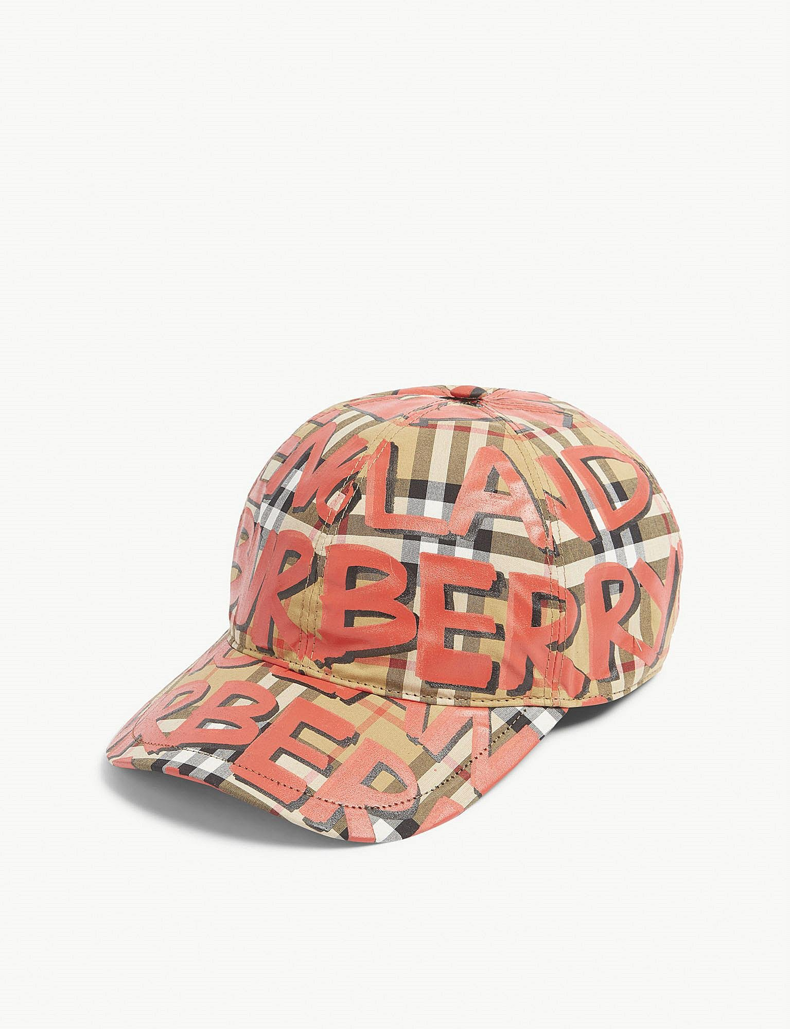 scribbled graffiti check cap - Multicolour Burberry 53V08UsD