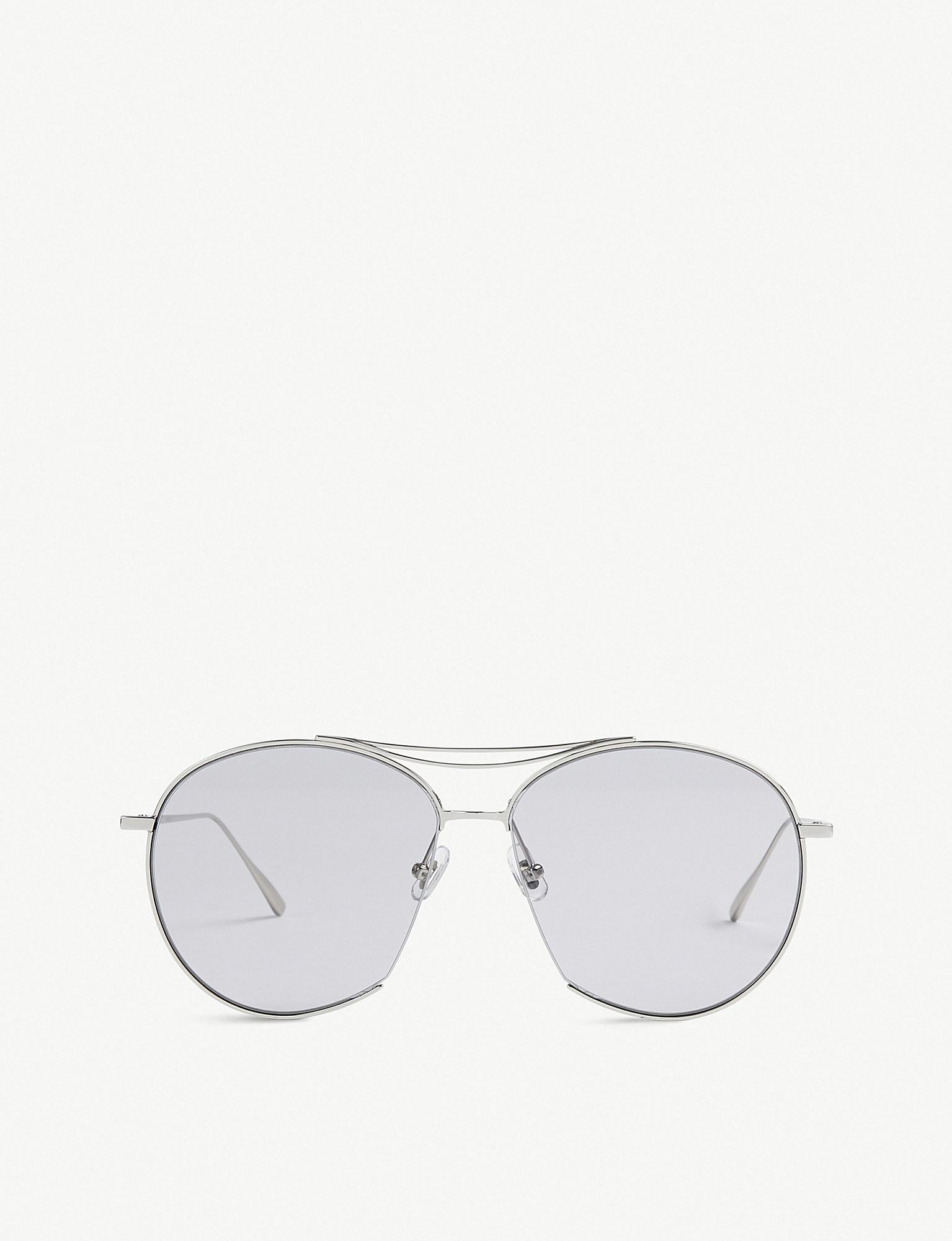 4a3ef28b38a Gentle Monster. Women s Metallic Jumping Jack Tinted Aviator Stainless  Steel Sunglasses
