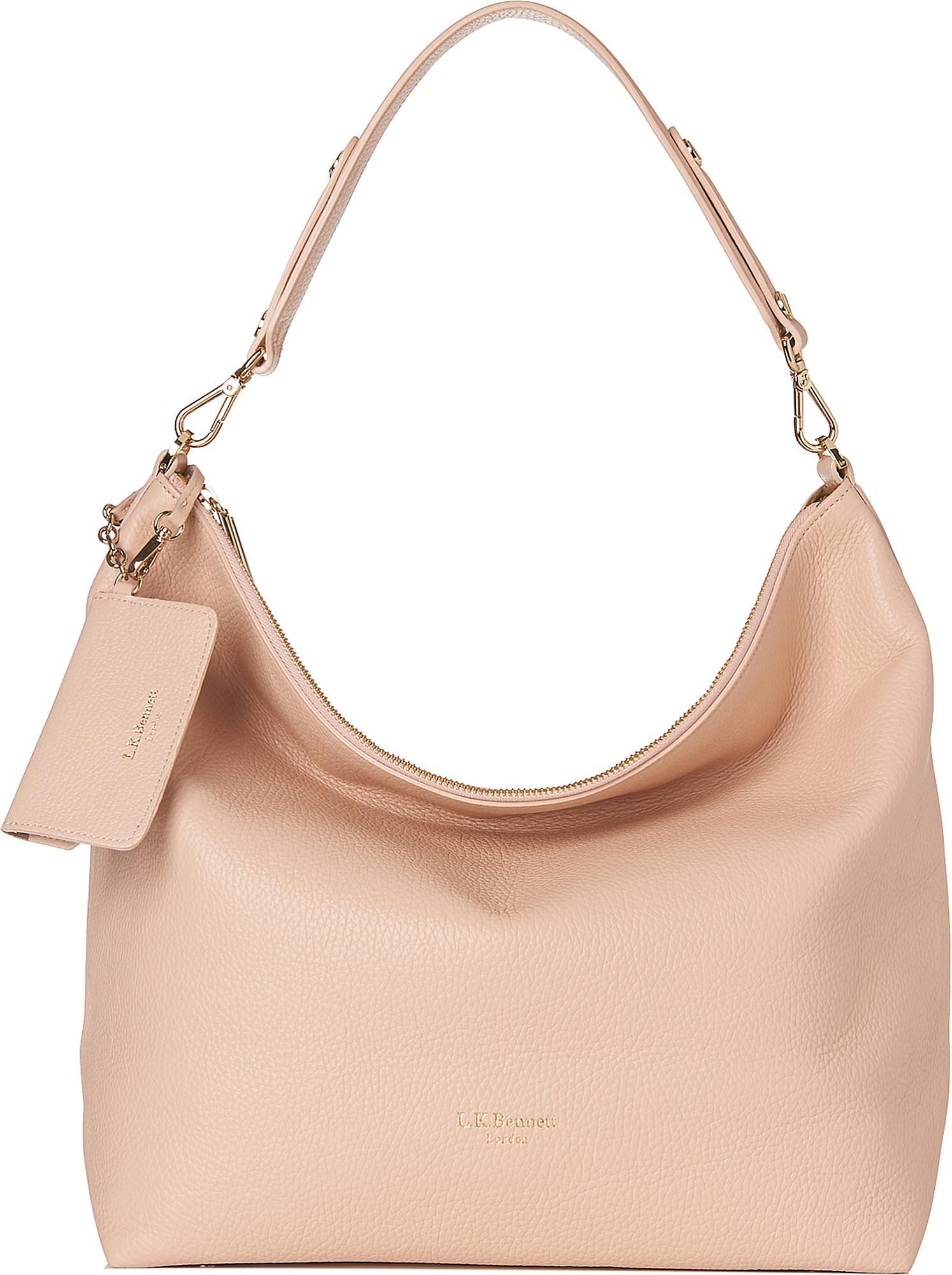 bca9c3a61eb2 Lyst - L.K.Bennett Margot Leather Hobo Bag
