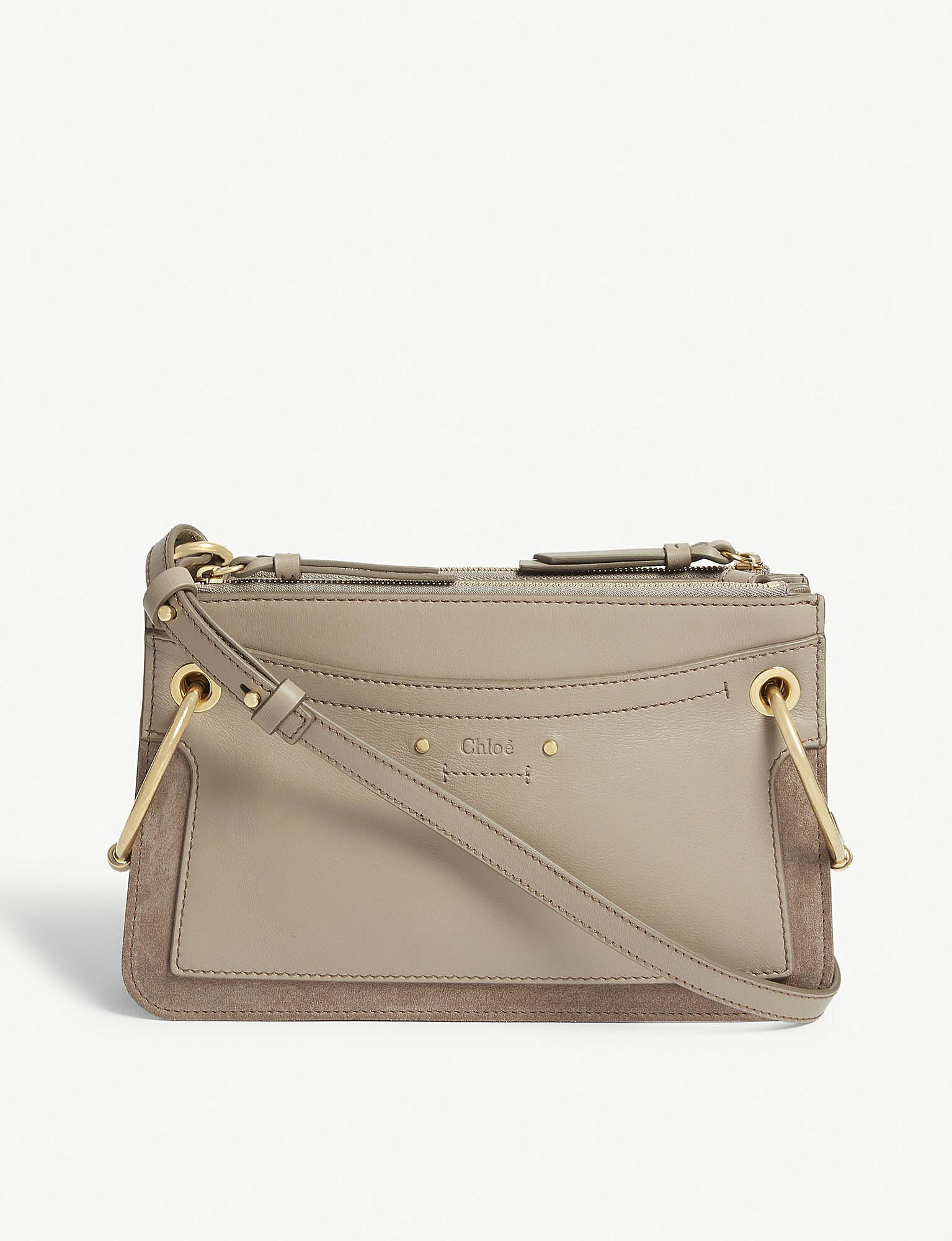 2d41a477cf Lyst - Chloé Motty Grey Roy Mini Leather And Suede Shoulder Bag in Gray