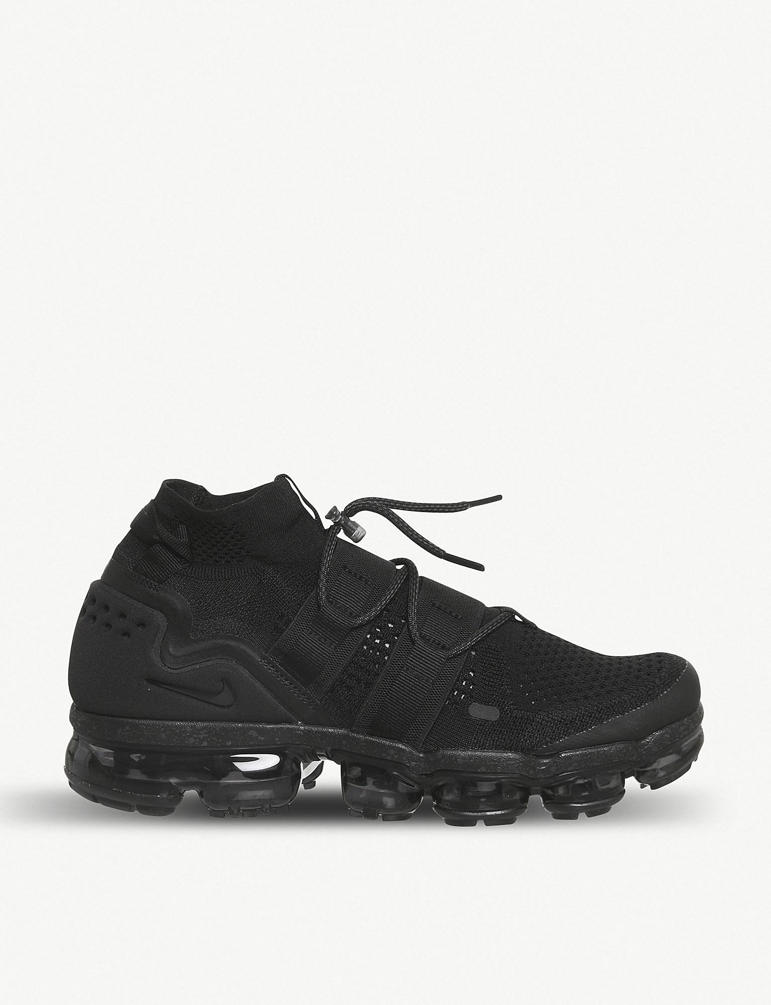 68140eeb142a8 Lyst - Nike Air Vapormax Flyknit Utility Trainers in Black for Men