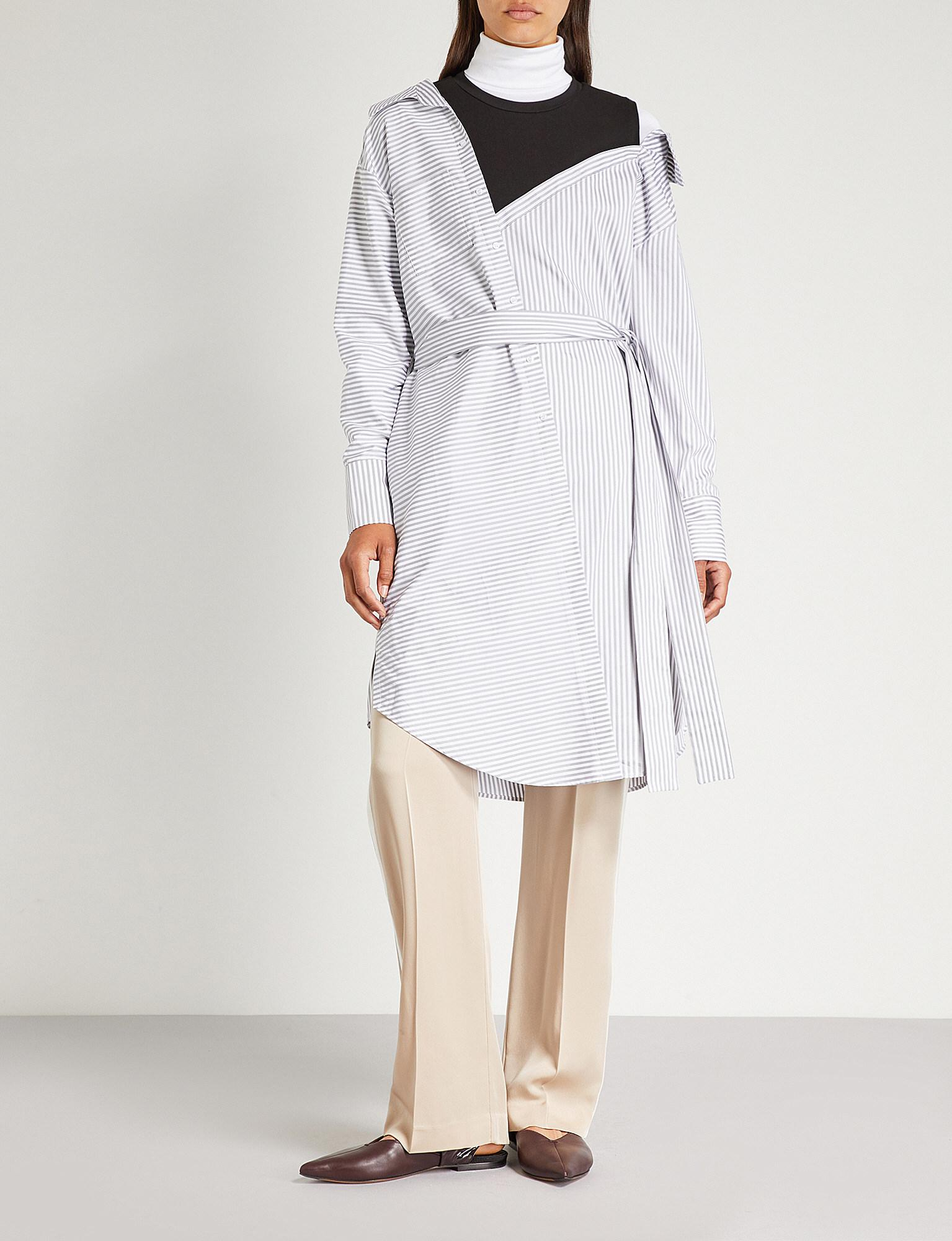 Shirt Deconstructed Riava White Lyst In Cotton Maje Dress 4FqWZnA