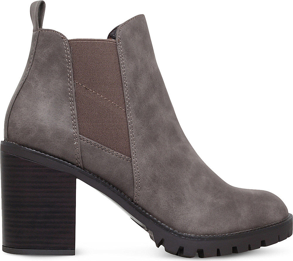 miss kg silent heeled ankle boots in brown lyst