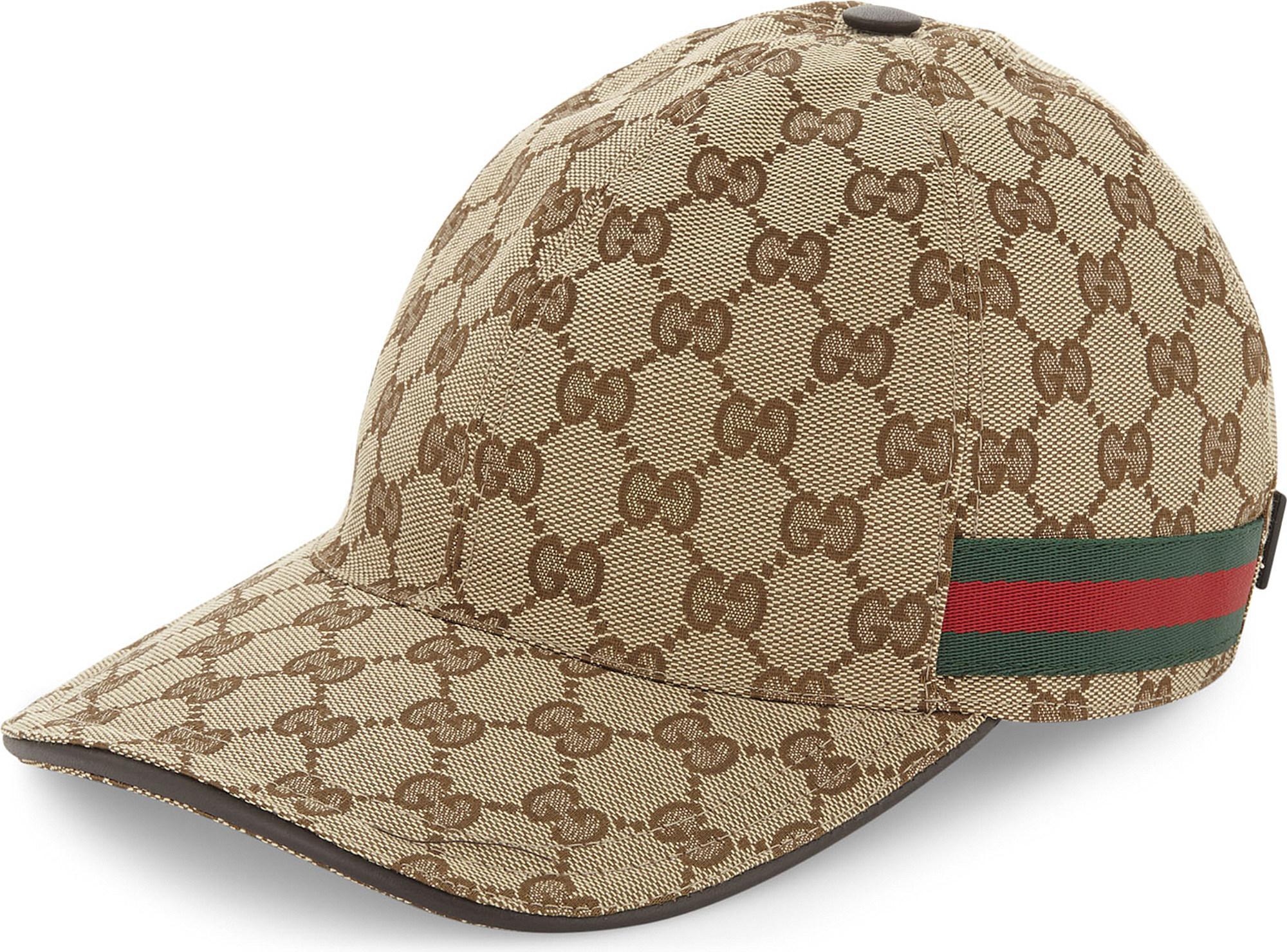 Gucci GG Web Stripe Baseball Cap in Brown for Men - Lyst 6a86fa90dd3