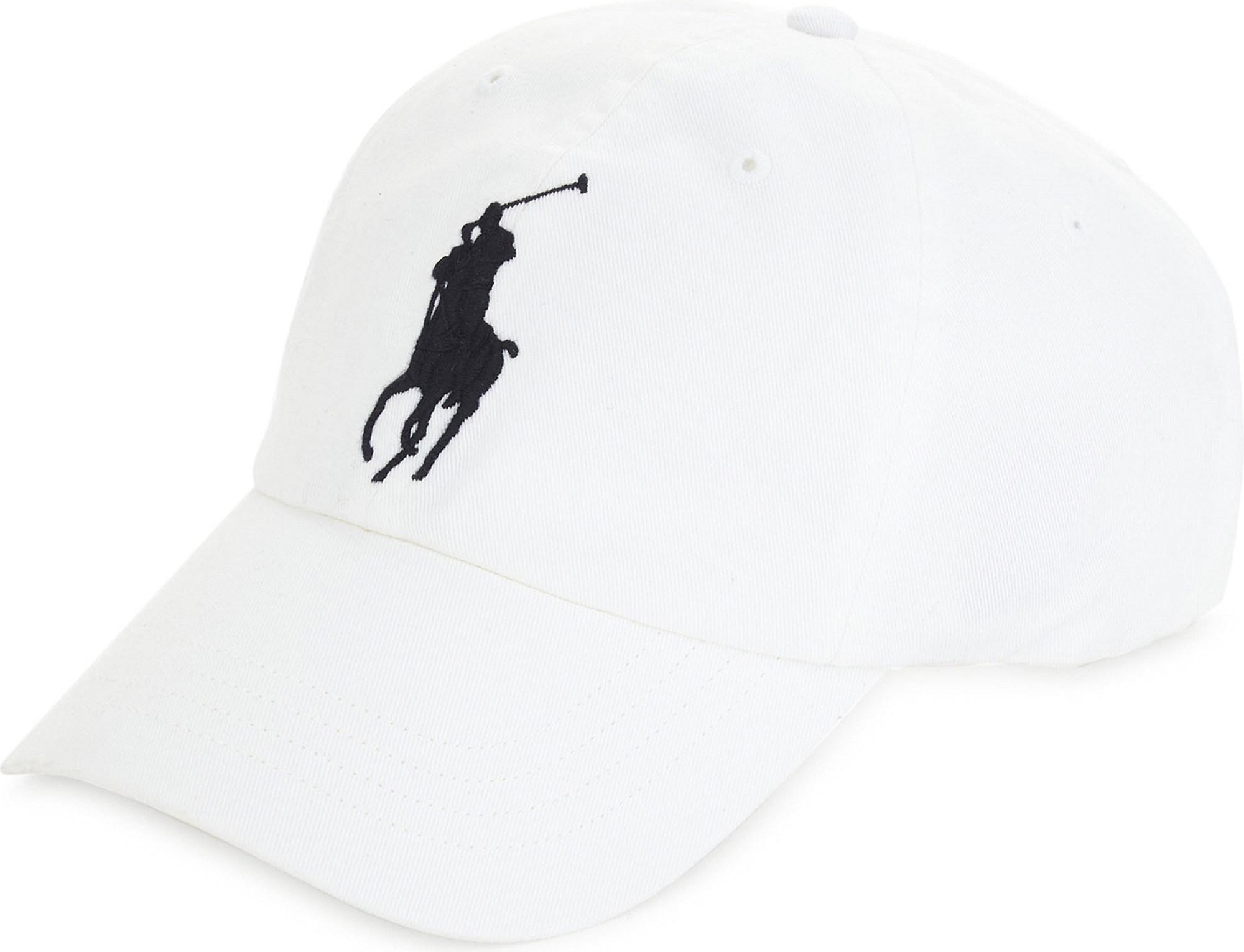 598561f7f30d3 Lyst - Polo Ralph Lauren Embroidered Logo Cotton Cap in White for Men