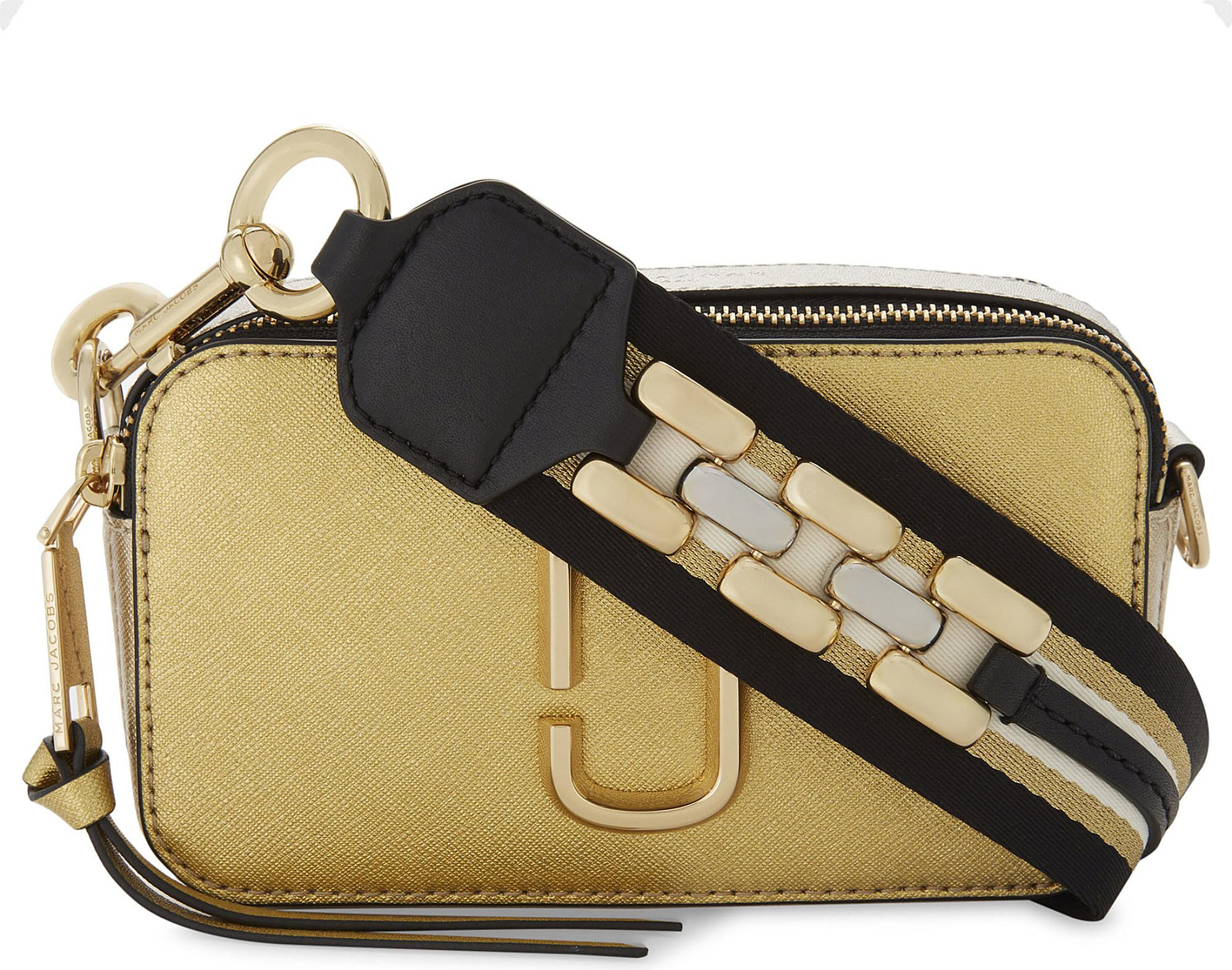 efe384c96dd Marc Jacobs Snapshot Metallic Leather Camera Bag in Metallic - Lyst