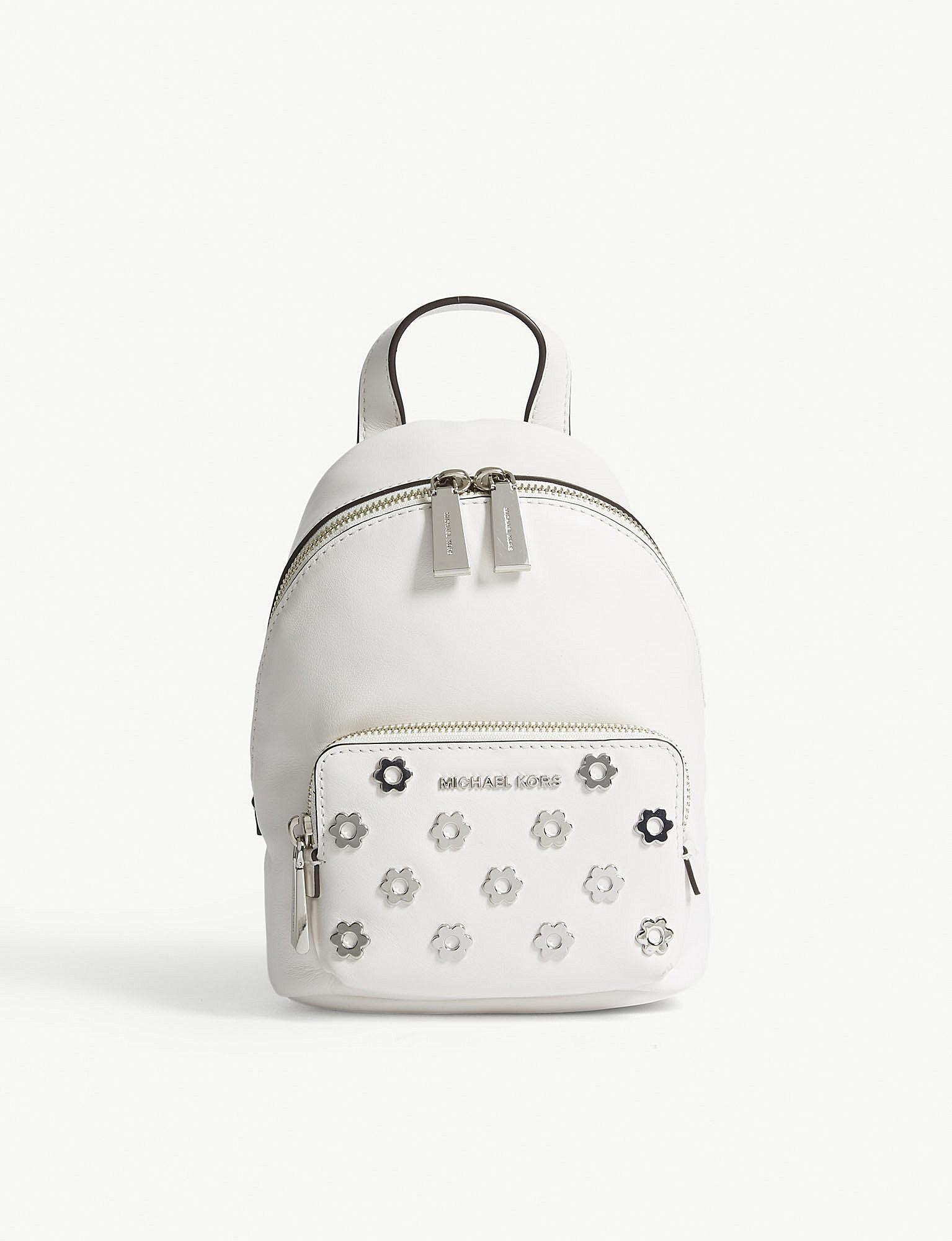5a46378c601f1 12345 d8cf4 1511f  discount lyst michael michael kors wythe extra small  leather backpack in white 4193c 96f1f