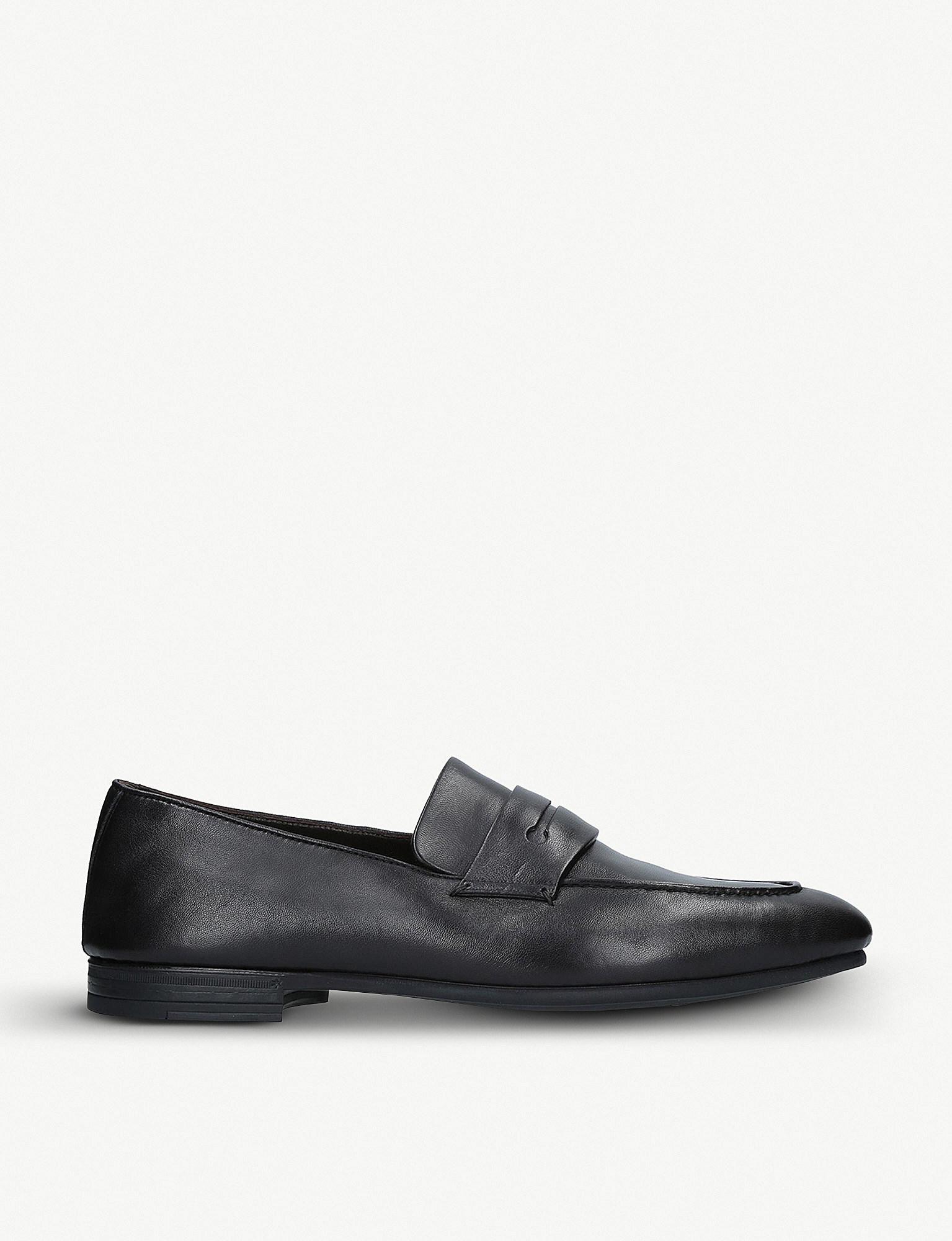 cb04554cbdc Lyst - Ermenegildo Zegna Asola Leather Penny Loafers in Black for Men