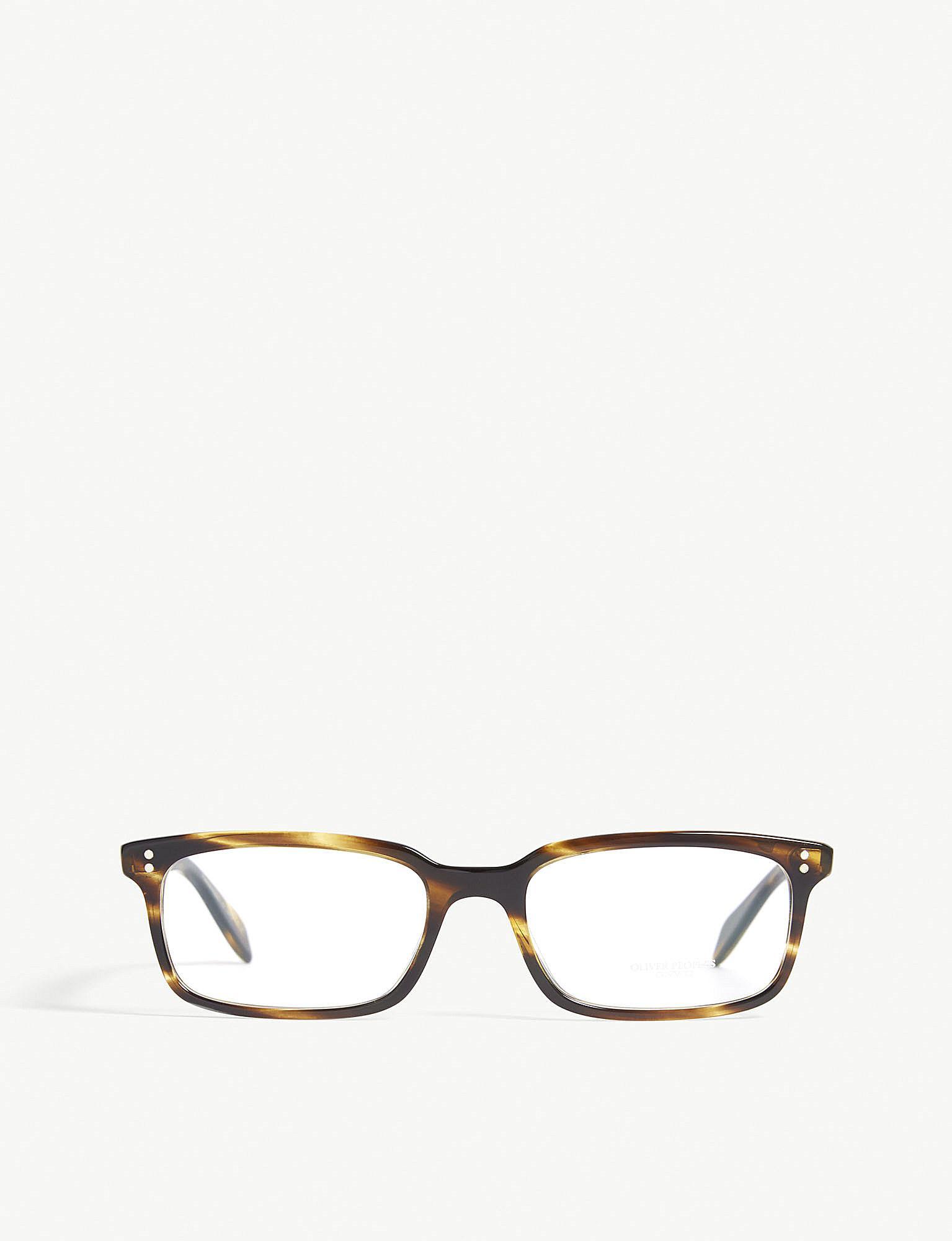 ec15a03f3fb Oliver Peoples Denison Square-frame Optical Glasses in Brown - Lyst