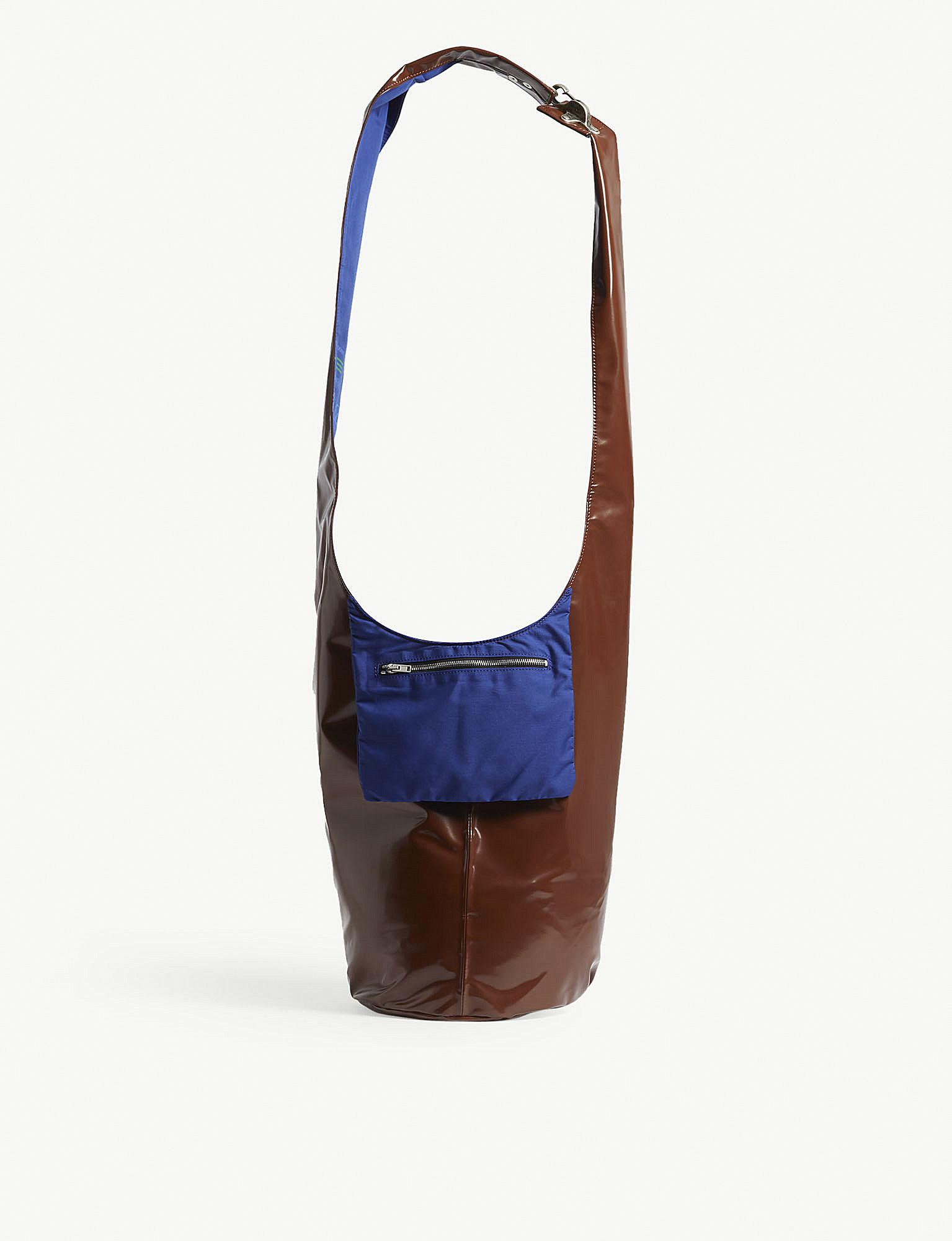 b961a953ff95 Lyst - Raf Simons Ladies Blue Twisted Patent Shoulder Bag in Blue