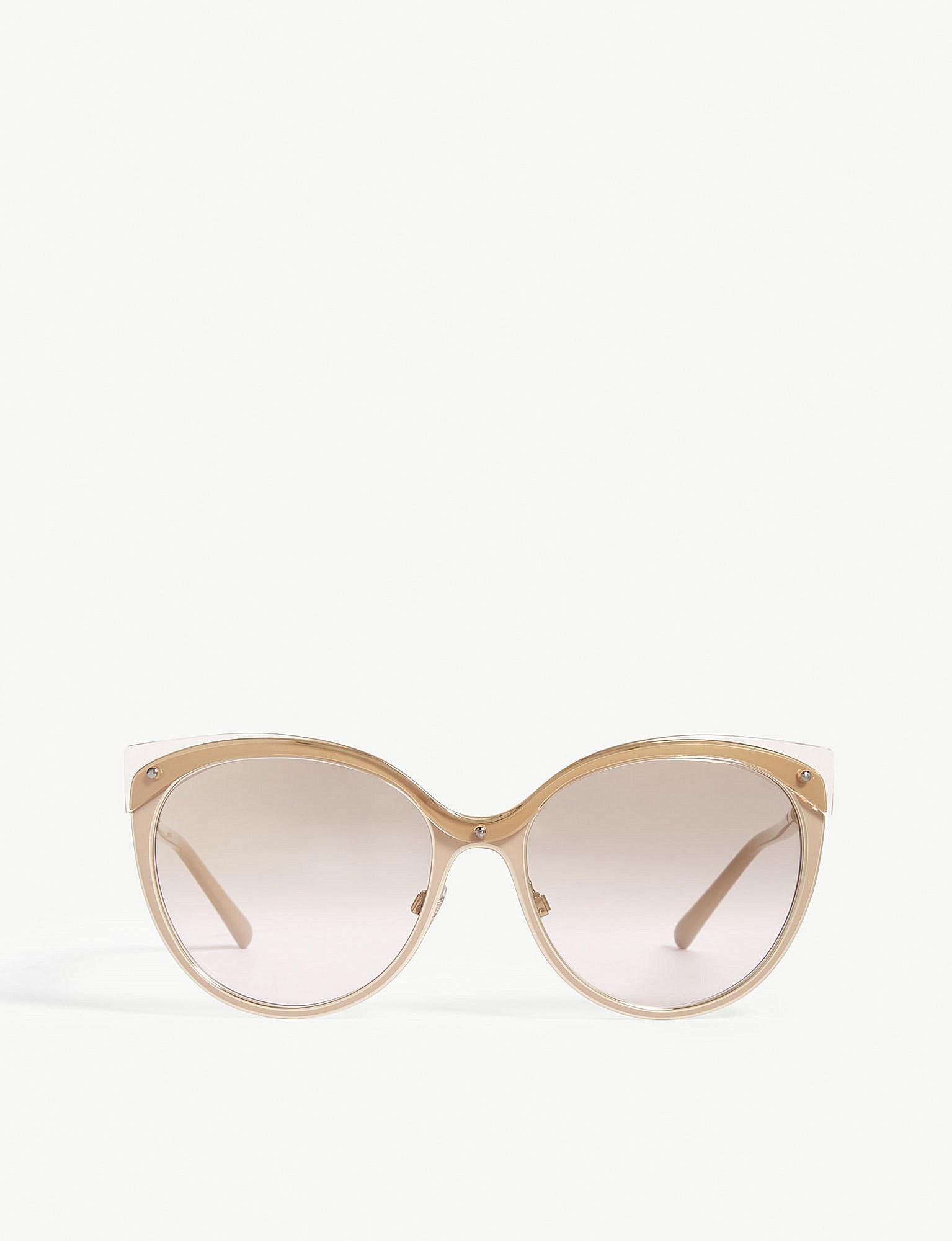 25364cf56e2 Burberry Be3096 Cat-eye Frame Sunglasses in Brown - Lyst