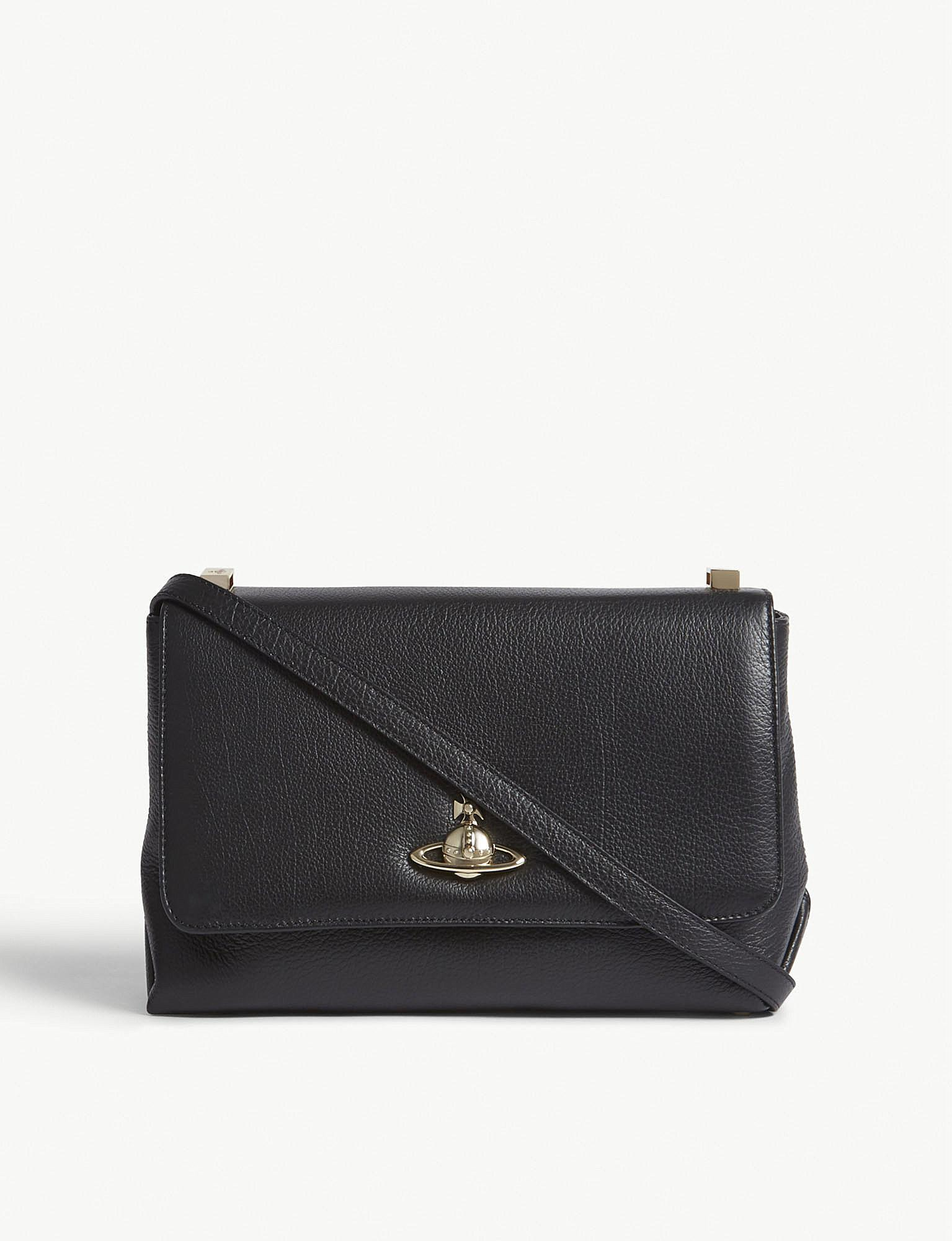 991b60a805 Vivienne Westwood Balmoral Leather Cross-body Bag in Black - Lyst
