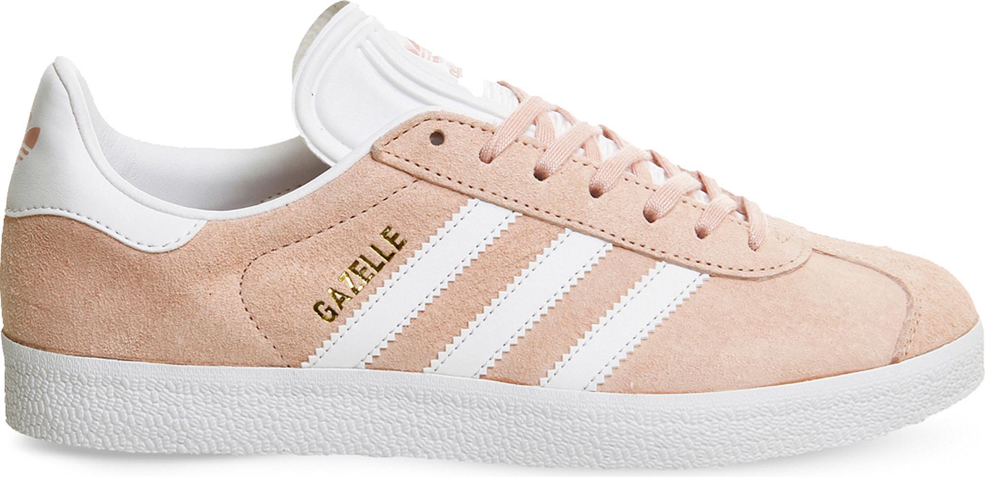 lyst adidas gazelle wildleder ausbilder in pink, 10% sparen