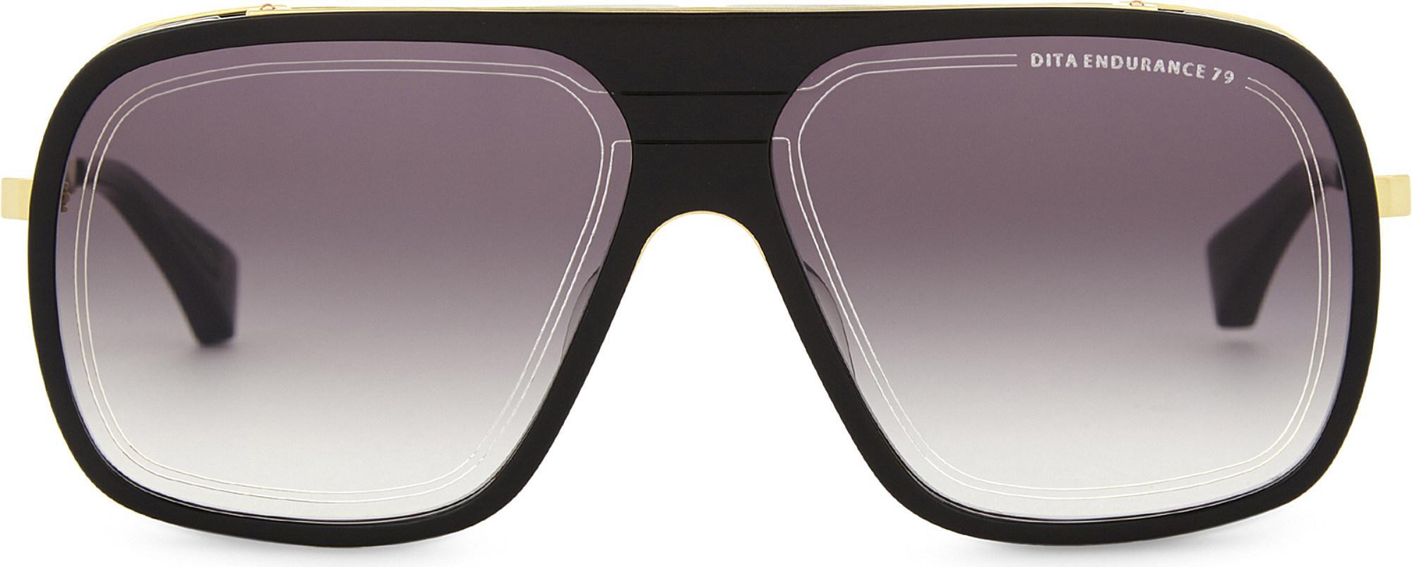 b91ab65ad19f Lyst - DITA Endurance 79 Square-frame Sunglasses in Blue