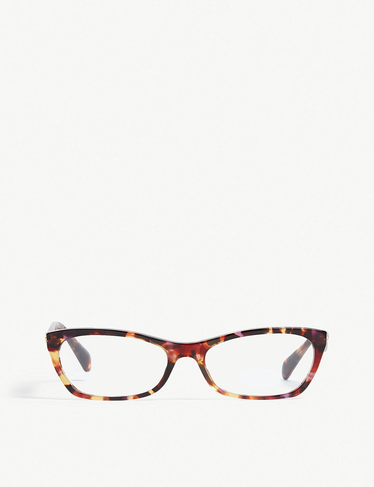 76faa9d1e53 Lyst - Prada Womens Purple Vpr15p Cat-eye-frame Glasses in Purple
