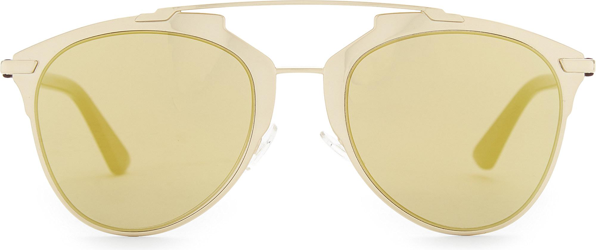 a4aa3f5bdf26fa Dior Reflected Oval Sunglasses in Metallic - Lyst
