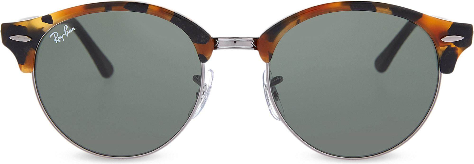 f701545fe4076 Ray-Ban Rb4246 Clubround Sunglasses in Black - Lyst
