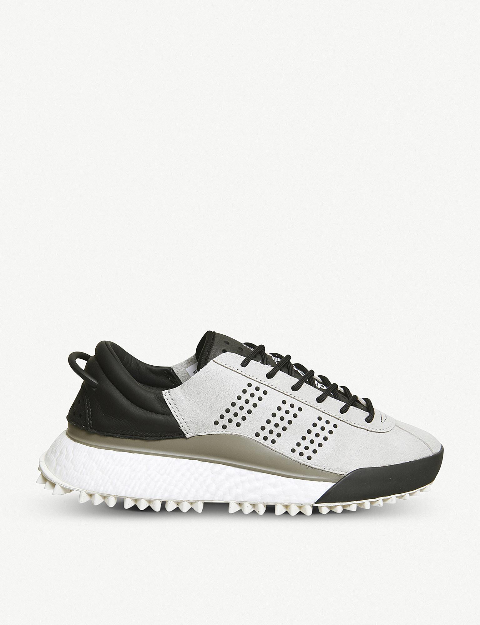 lyst adidas aw hike low boost textile and rubber low top