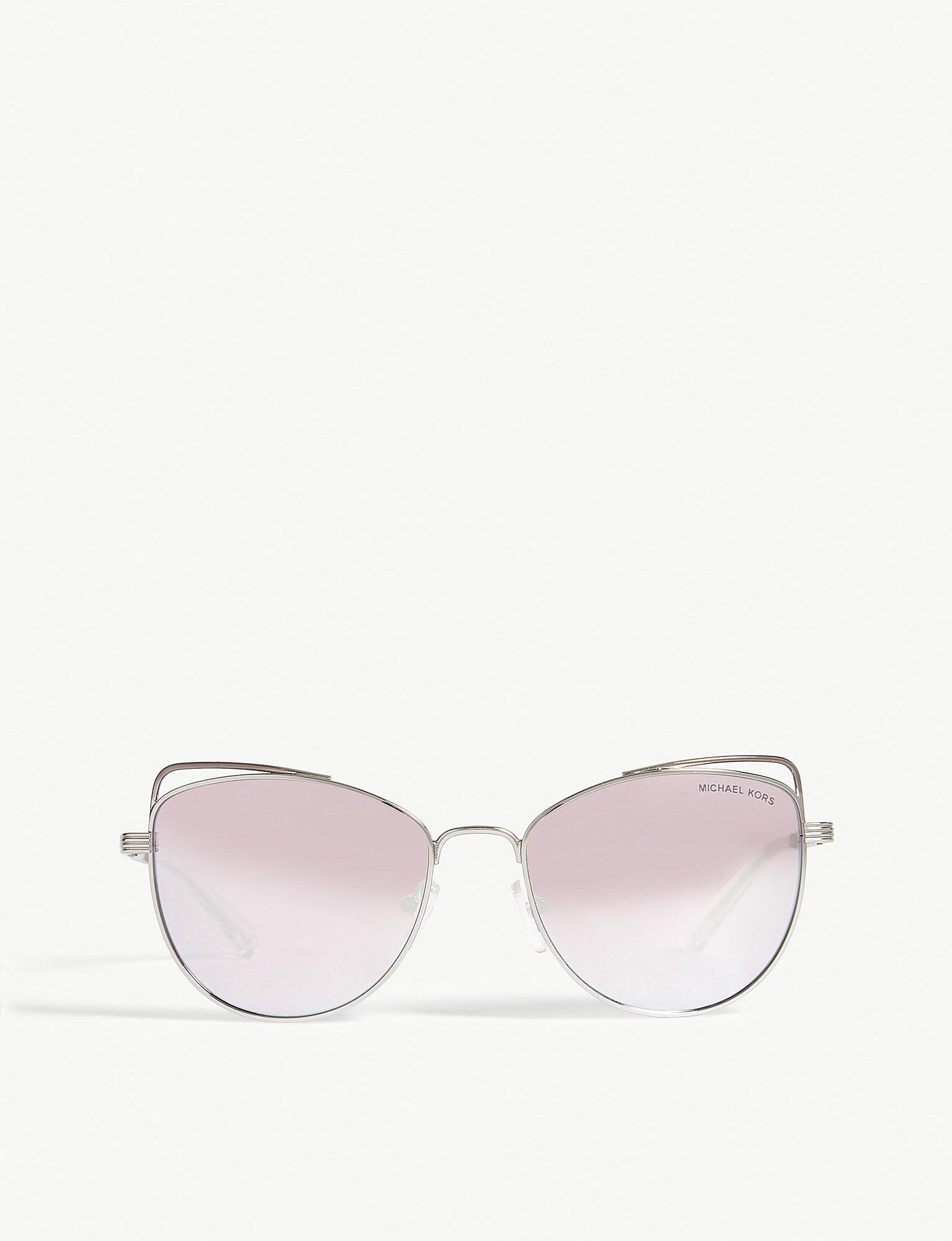 michael kors silver gold st lucia cat s eye sunglasses mk1035 in Oakley Frogskins Sunglasses view fullscreen