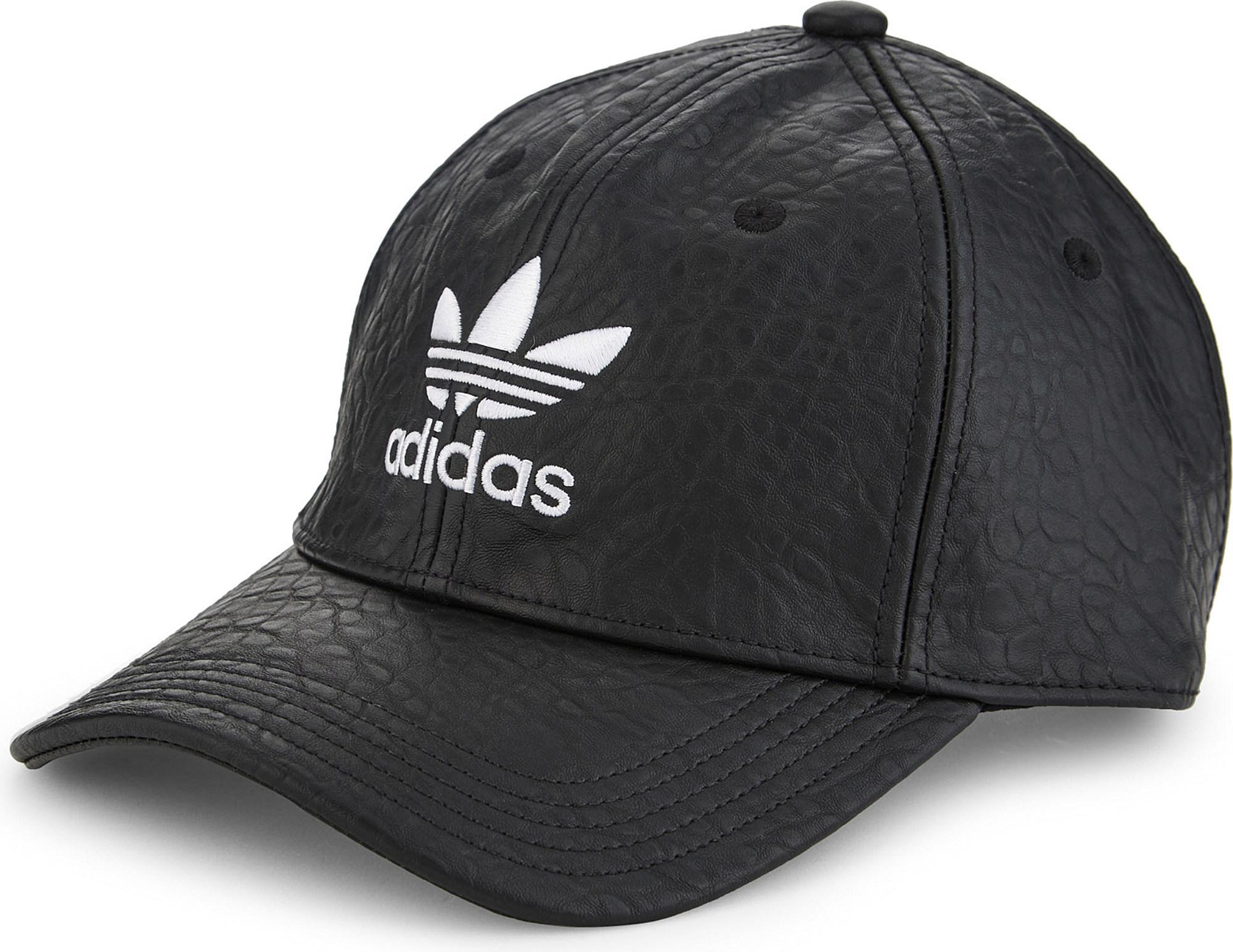 f6dab987 sweden adidas originals trefoil snapback baseball cap 536d0 d18d3; new  zealand lyst adidas originals trefoil faux leather strapback cap in black  34f91 59176