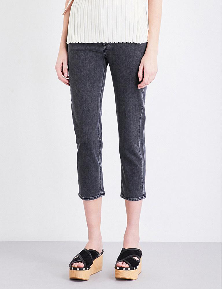 closed heartbreaker skinny high rise jeans in blue lyst. Black Bedroom Furniture Sets. Home Design Ideas