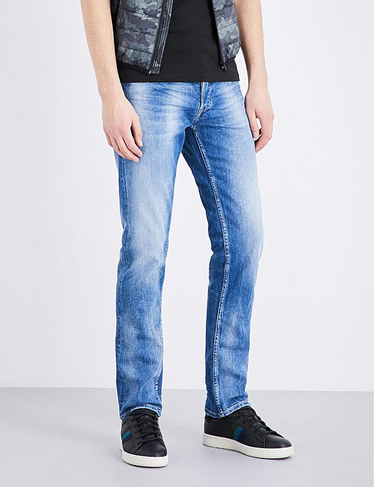 Lyst - Replay Grover Slim-fit Straight Jeans in Blue for Men 210408b246