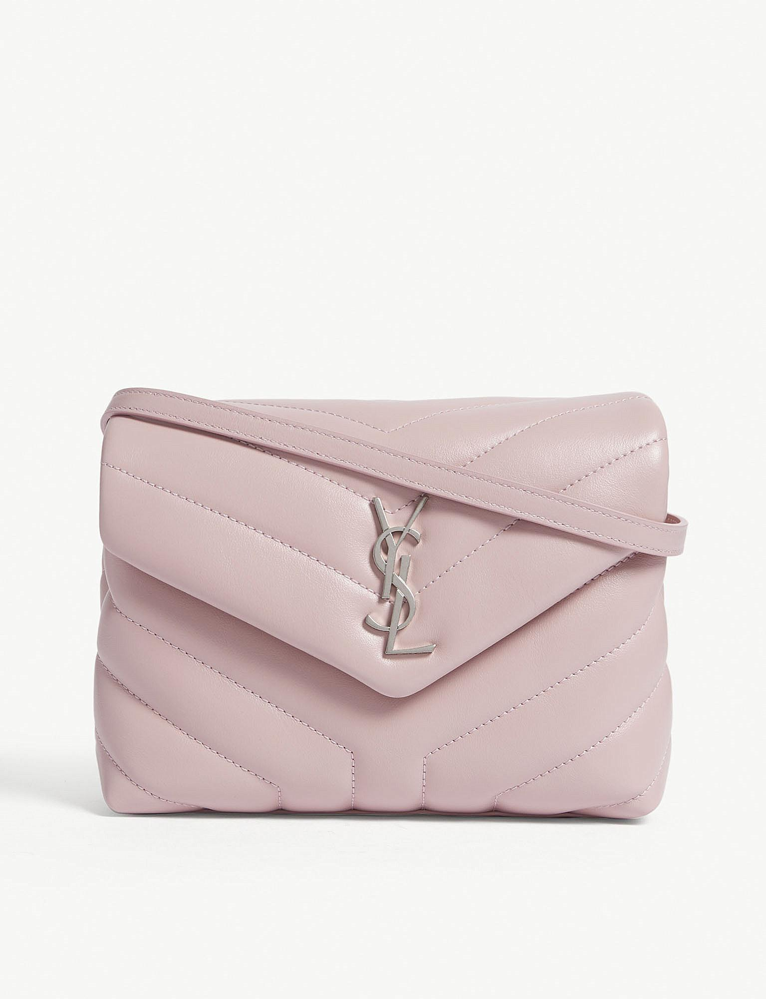 18fdf89ee81e Saint Laurent. Women s Tender Pink Monogram Loulou Quilted Leather Cross  Body Bag