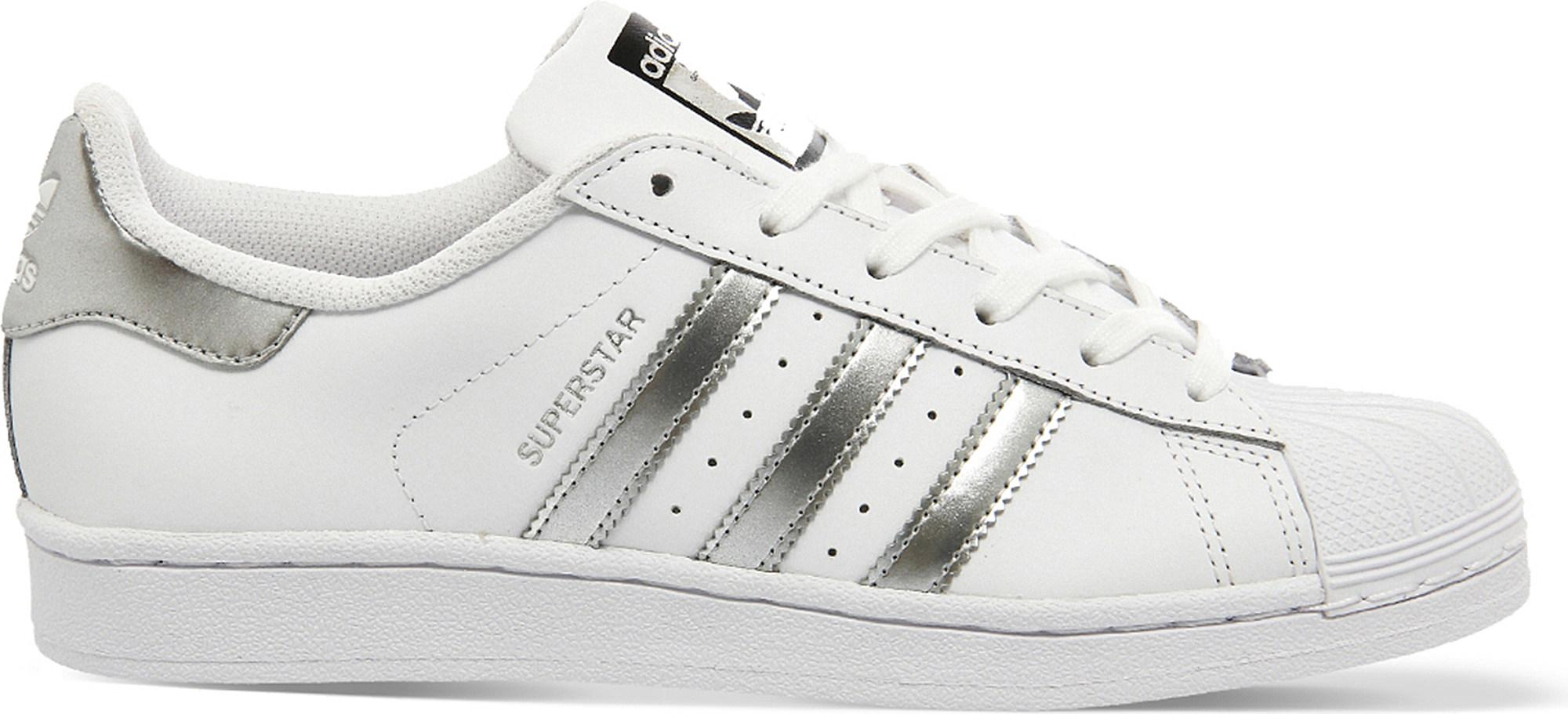 premium selection d256b 44010 adidas Superstar 1 Leather Trainers in White - Lyst