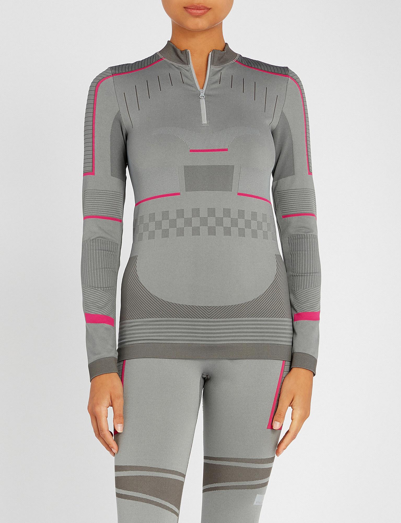 2b45730b adidas By Stella McCartney Training Seamless Long Sleeve Top in Gray ...