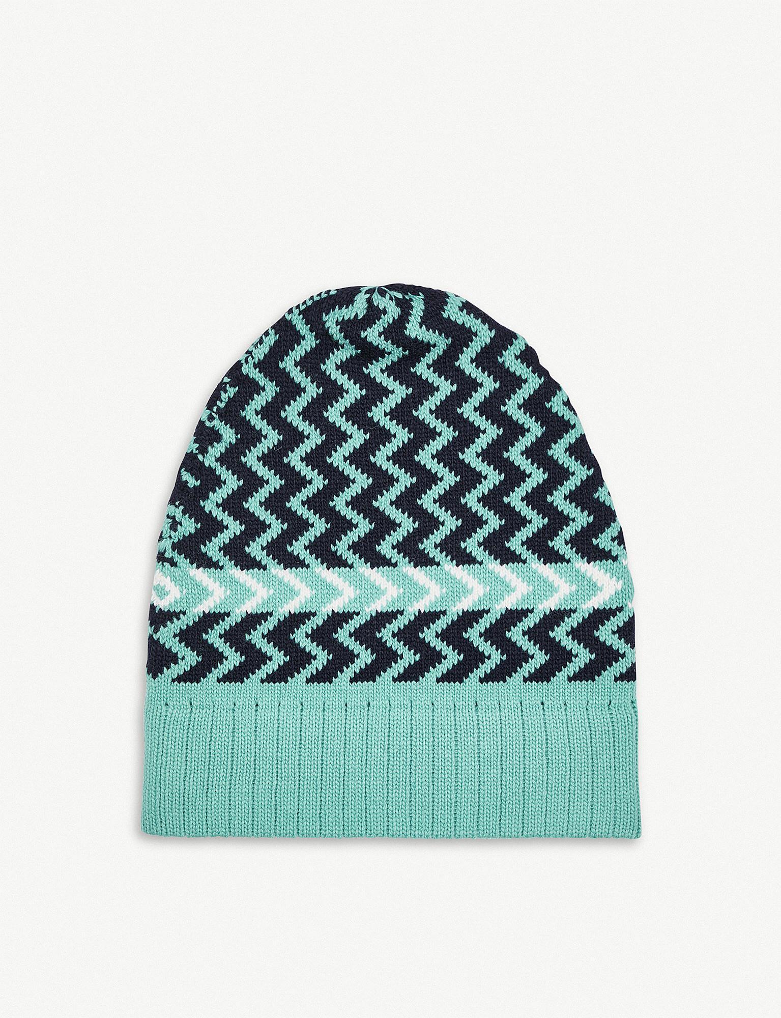 67d9da2cf8d Gucci. Men s Blue Zig-zag Knitted Wool Hat. £160 £32 From Selfridges