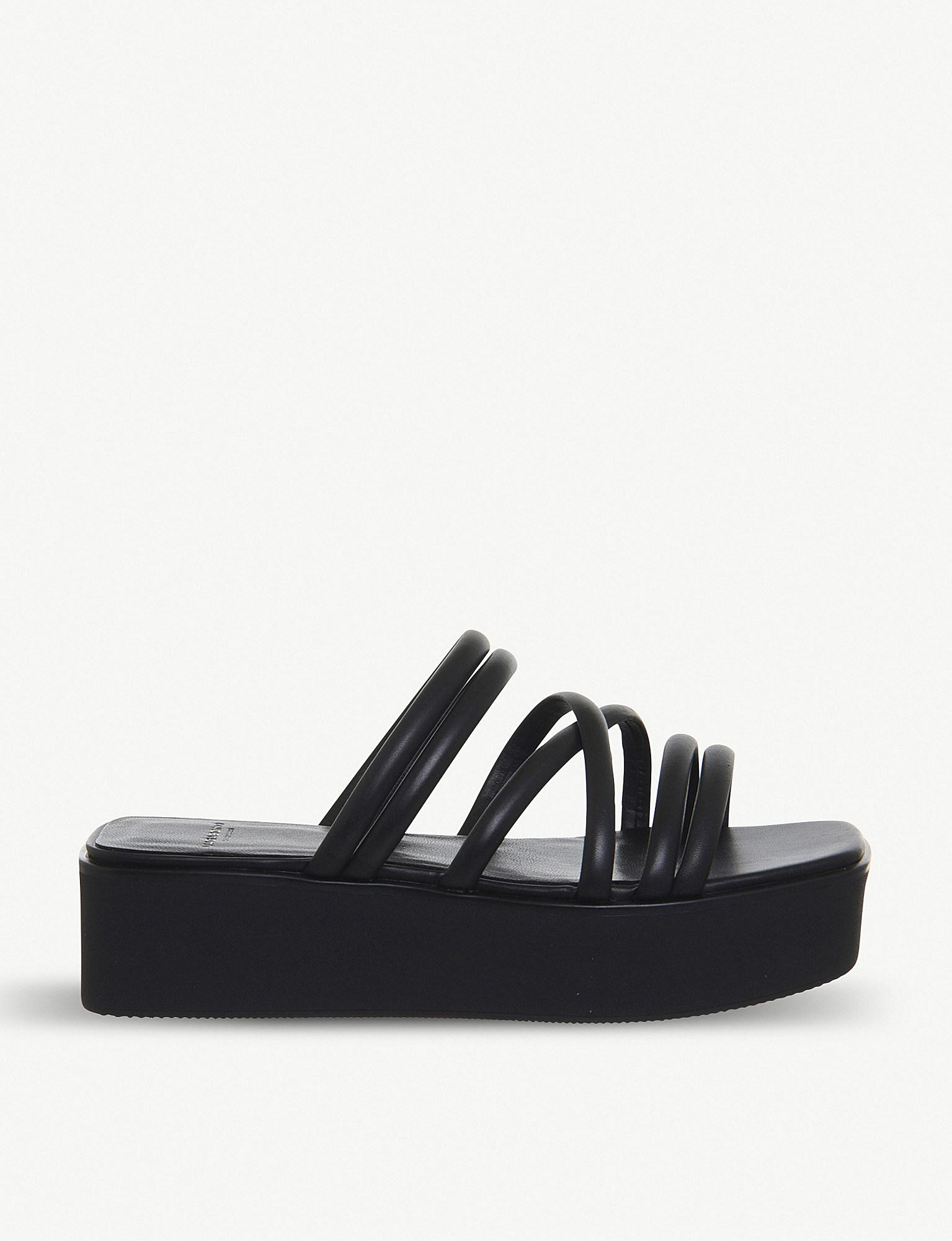 d82d2f7b77b Vagabond Shoemakers Bonnie Platform Sandal in Black - Lyst