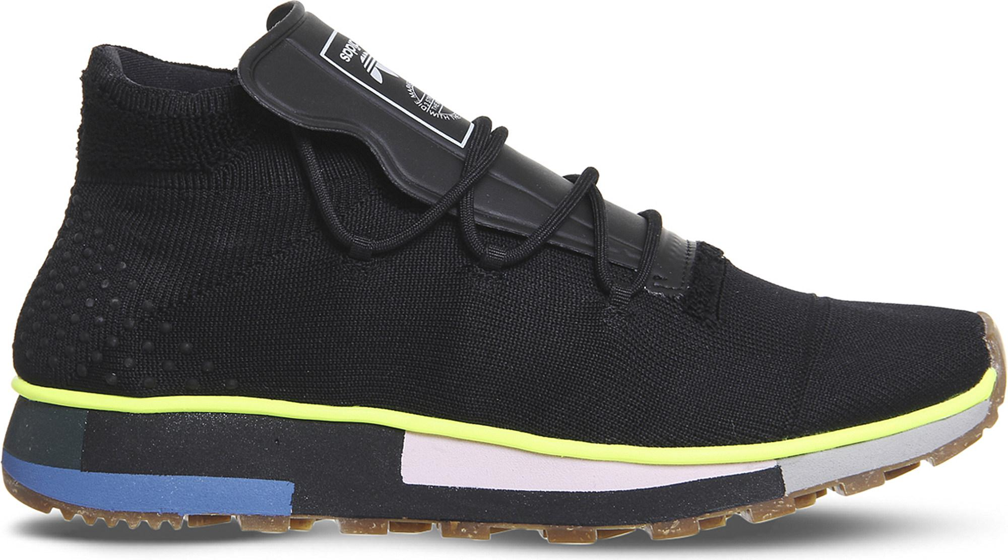 bdde849c39d9 Lyst - adidas Aw Run Mid-top Primeknit Trainers in Black for Men