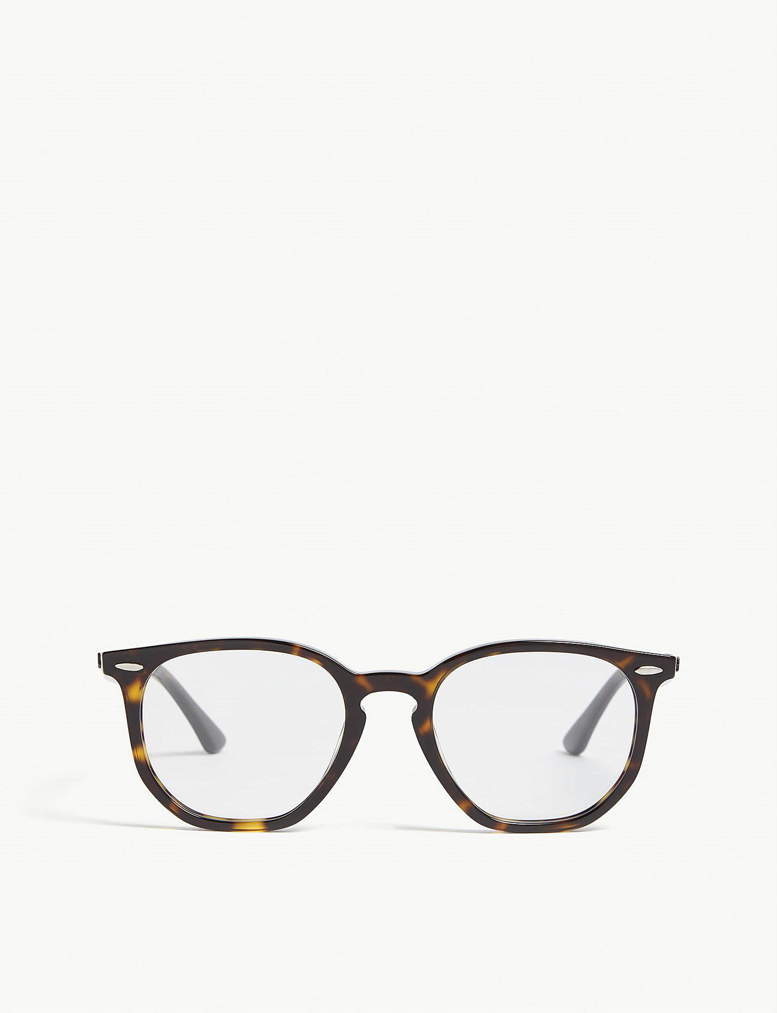 df5ddfc126 Lyst - Ray-Ban Rb7151 Square-frame Havana Glasses in Brown for Men