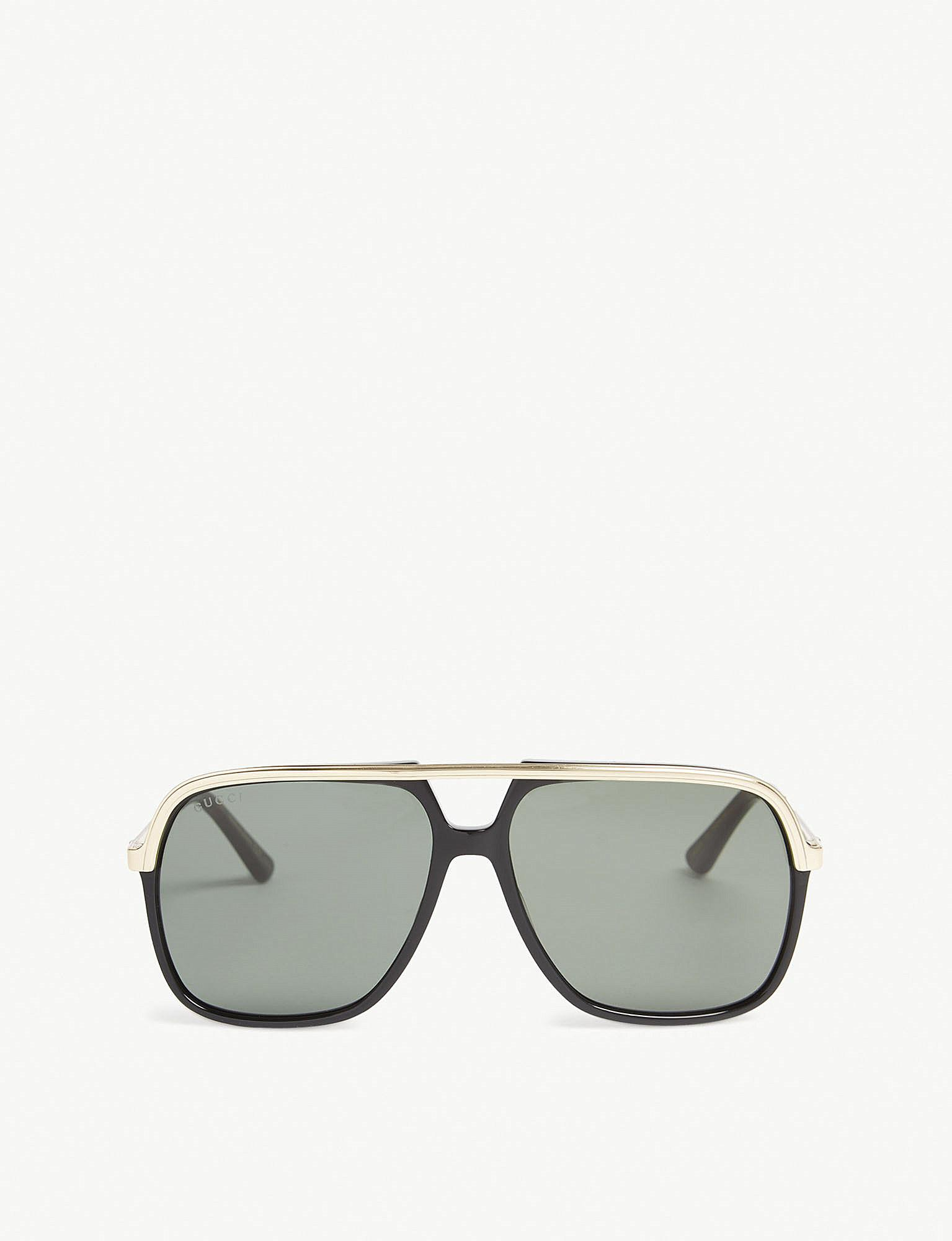 2bdb72c217a Lyst - Gucci Gg0200 Rectangle-frame Sunglasses in Black