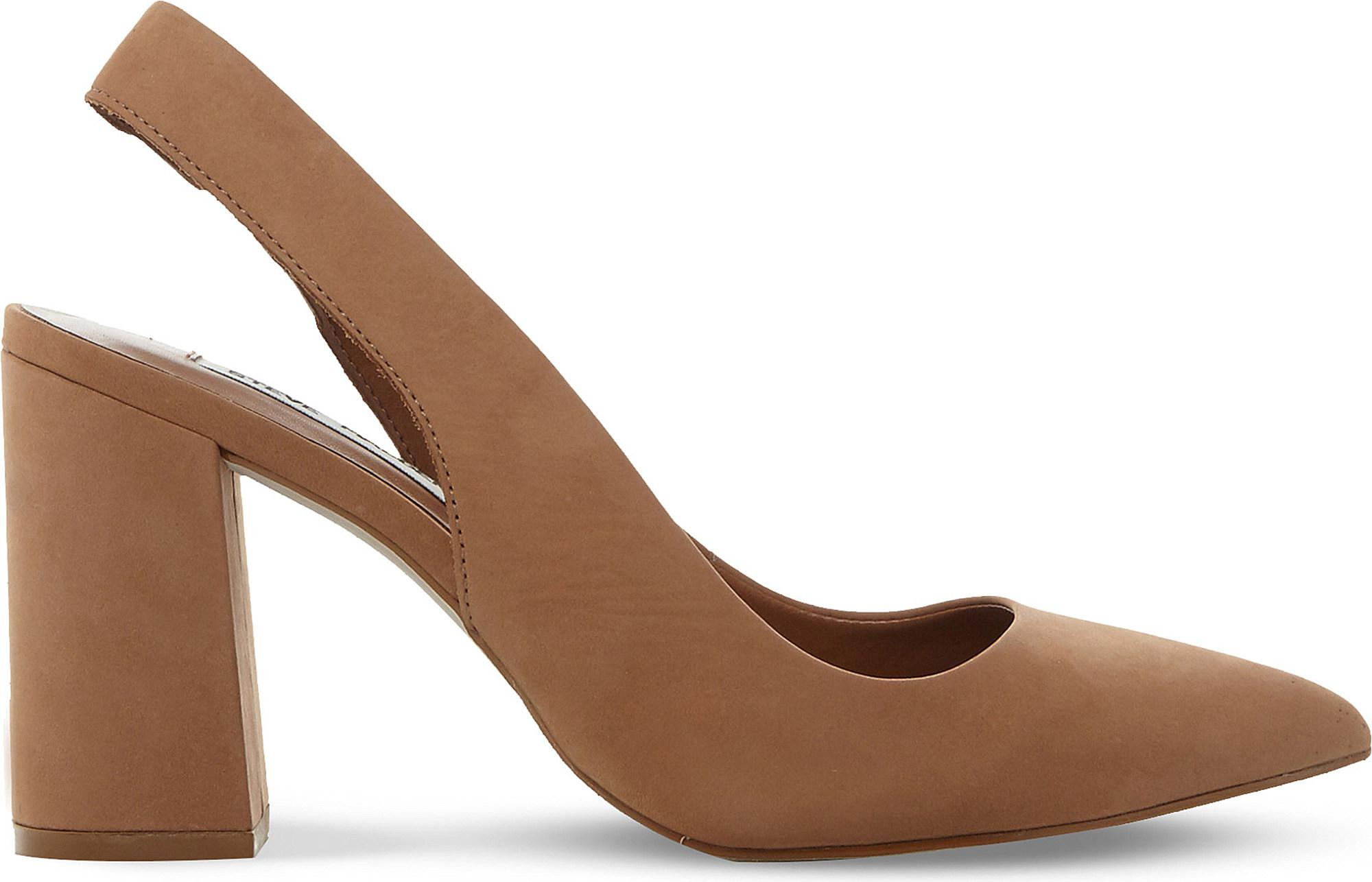 f540d4f7a8d0 Steve Madden Dove Nubuck Slingback Courts in Brown - Lyst